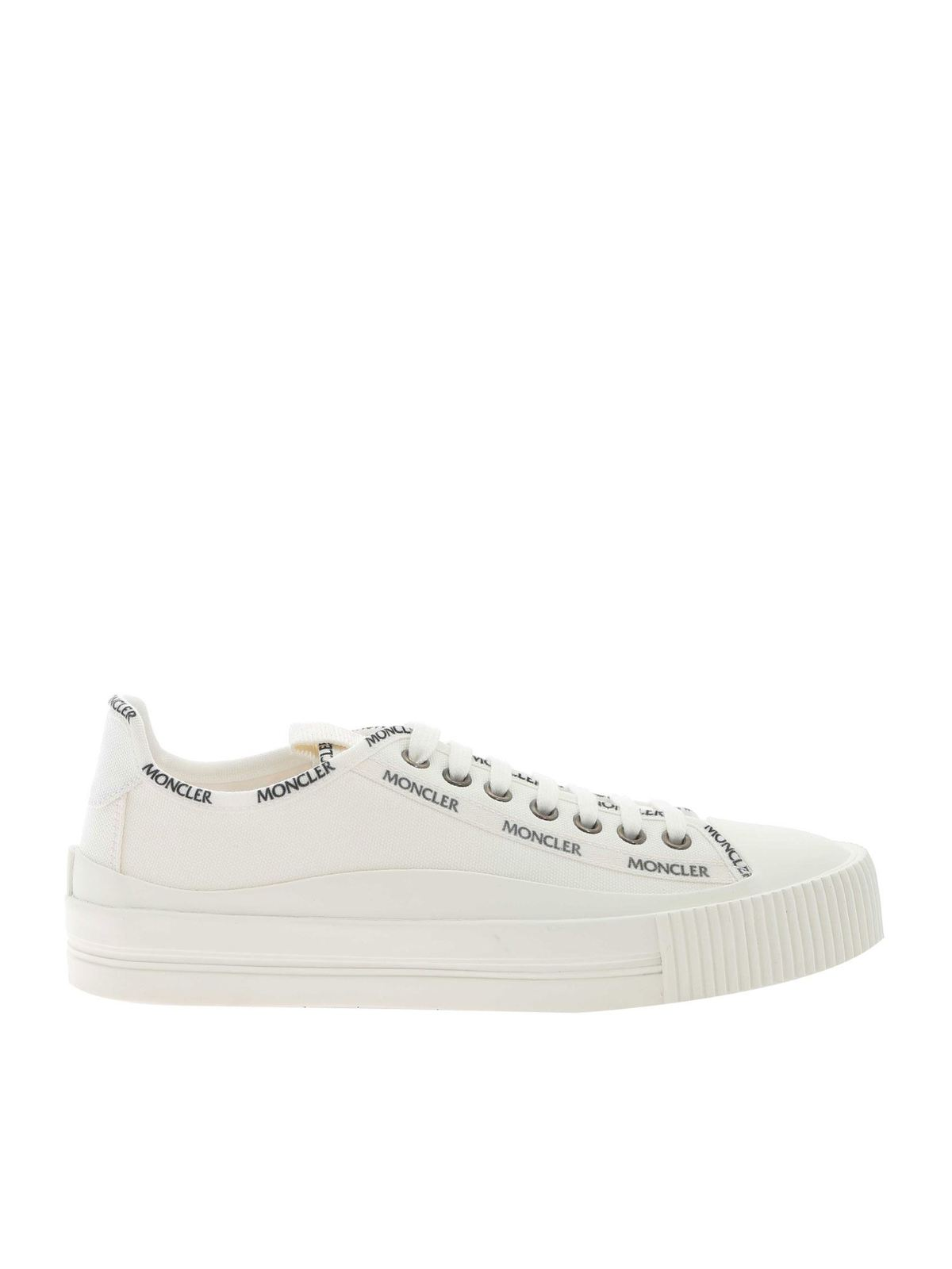 Moncler Canvases GLISSIERE SNEAKERS IN WHITE
