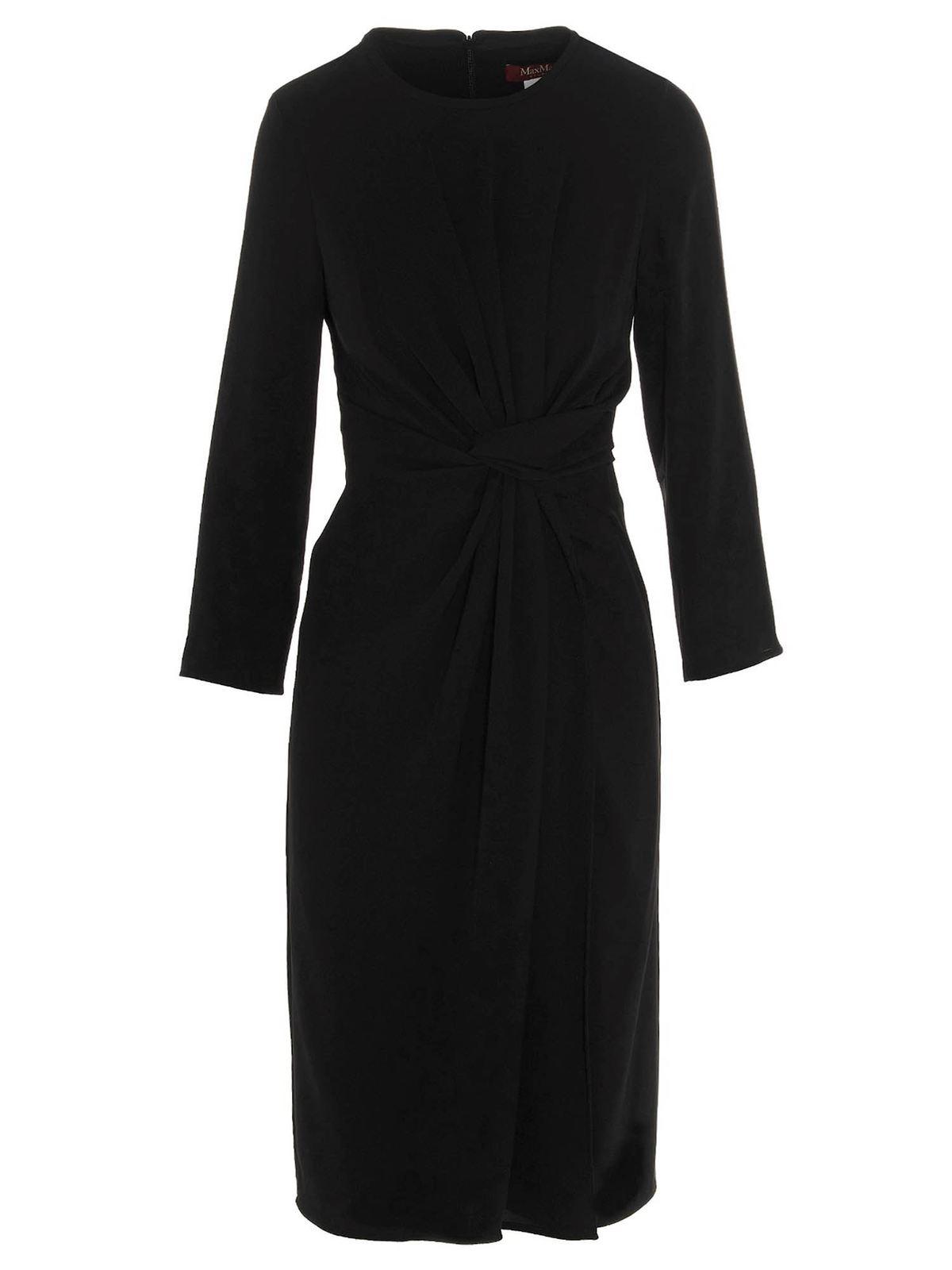 Max Mara NUBLE DRESS IN BLACK