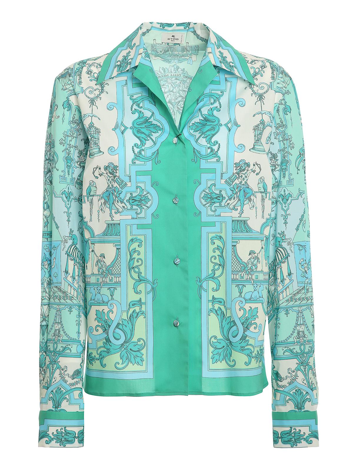 Etro Capri Shirt In Green
