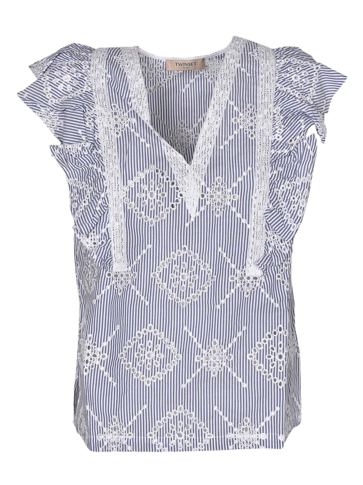 Twinset BRODERIE ANGLAISE DETAILED TOP