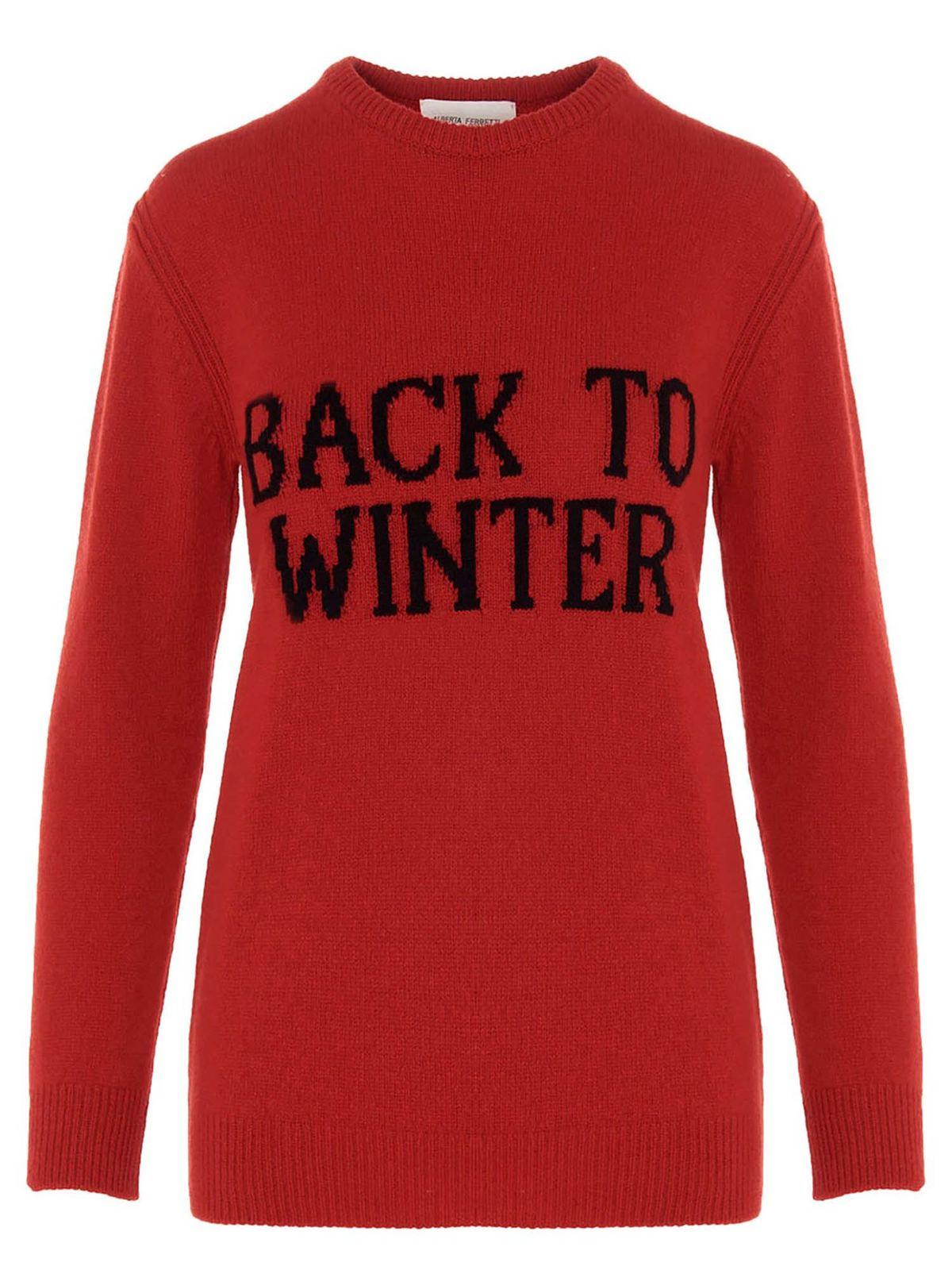 Alberta Ferretti Back To Winter Pullover In Red