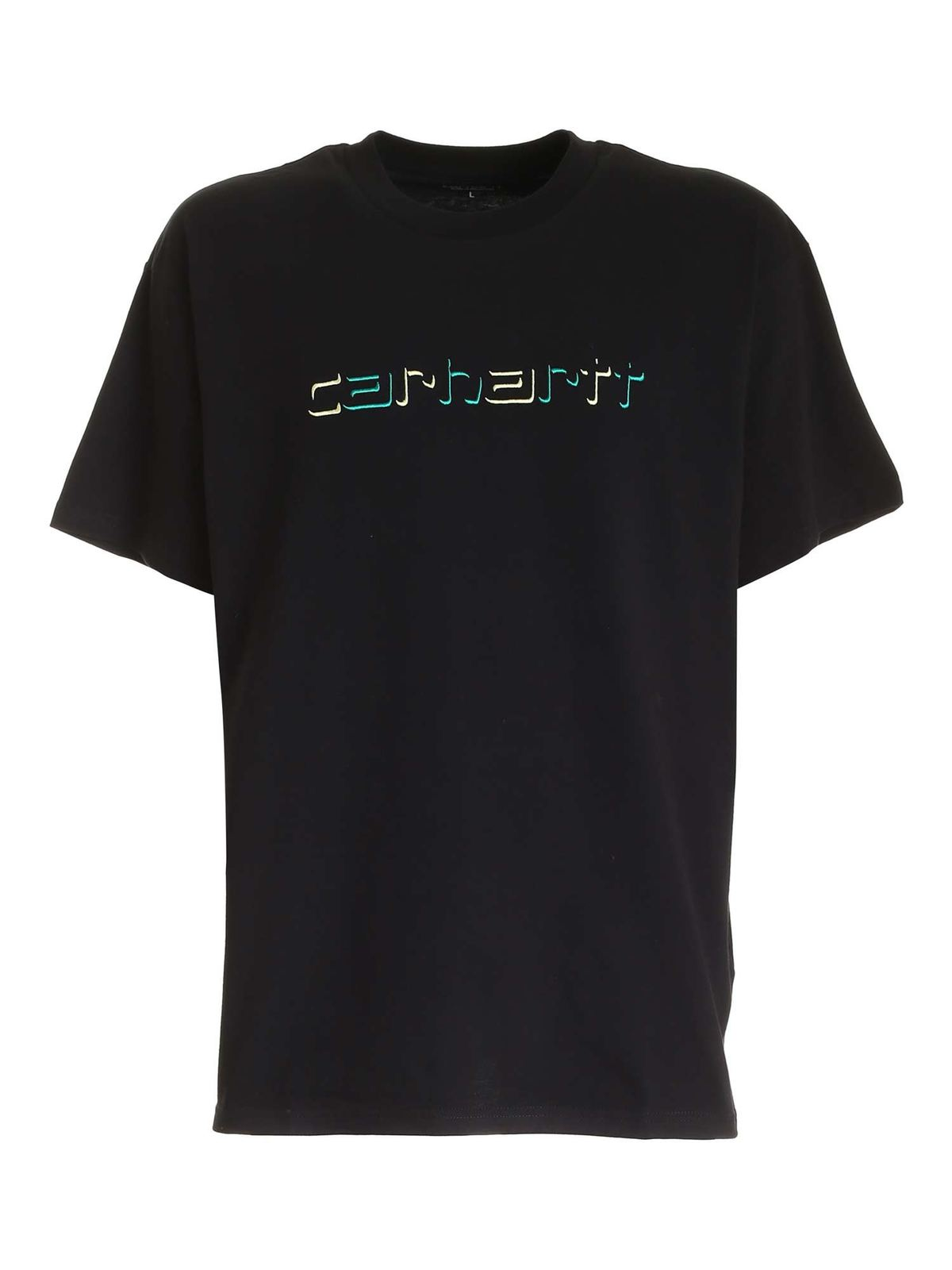 Carhartt Cottons LOGO EMBROIDERY T-SHIRT IN BLACK