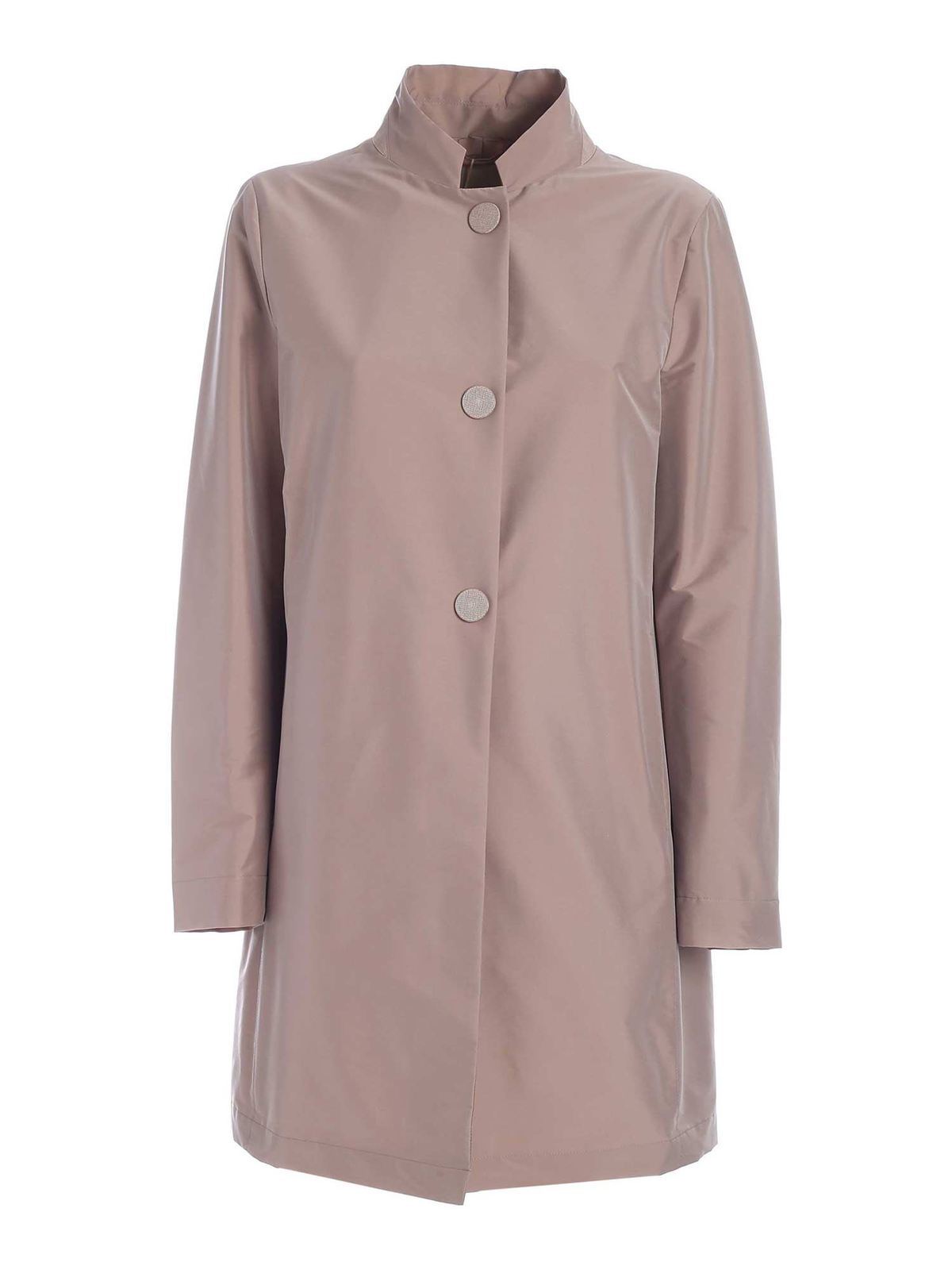 Herno SINGLE-BREASTED COAT IN ANTIQUE PINK