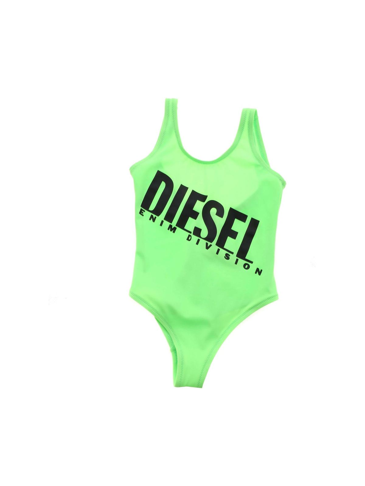 Diesel One-pieces MIELL SWIMSUIT IN LIME GREEN