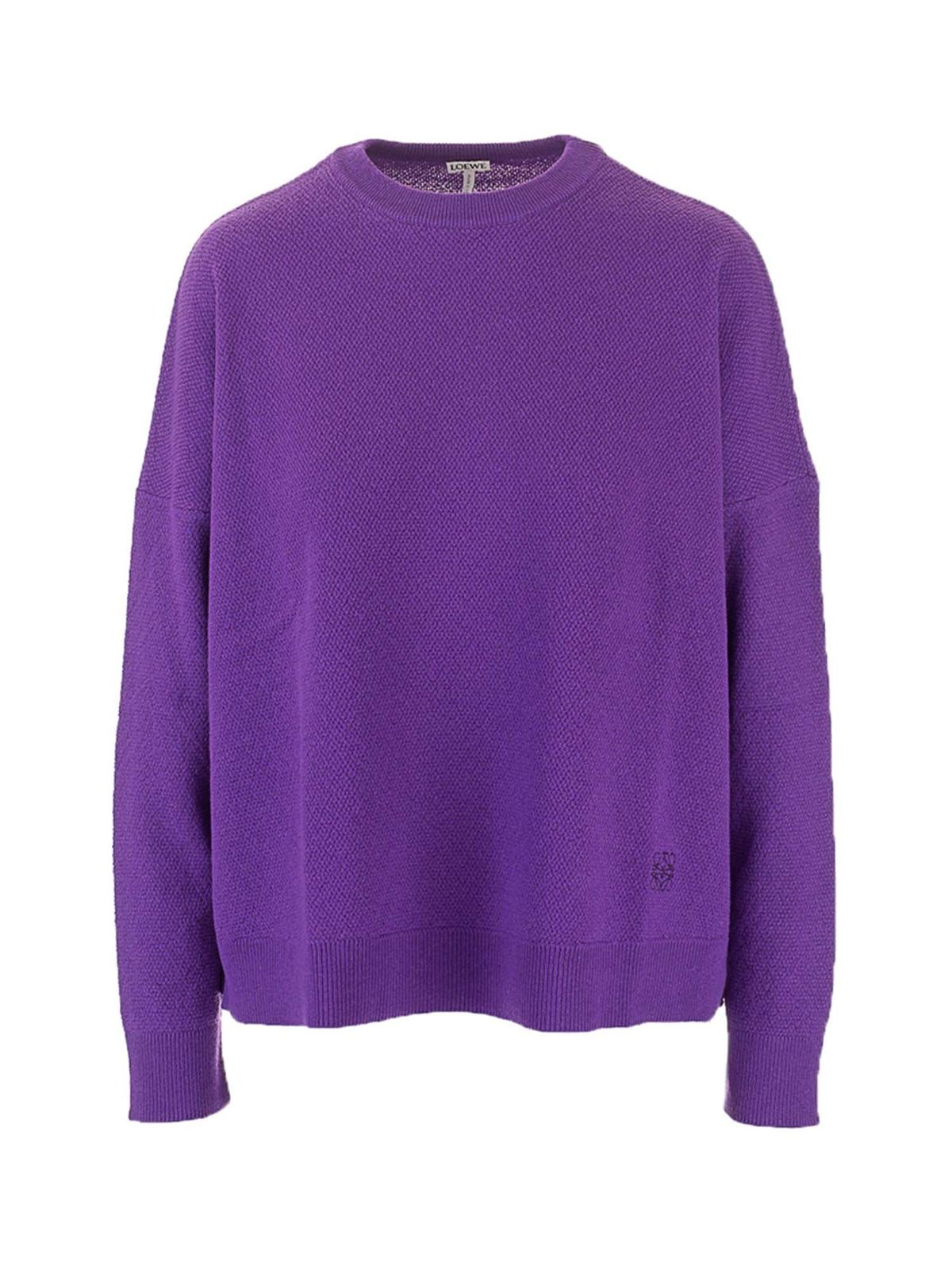 Loewe CASHMERE SWEATER IN VIOLET