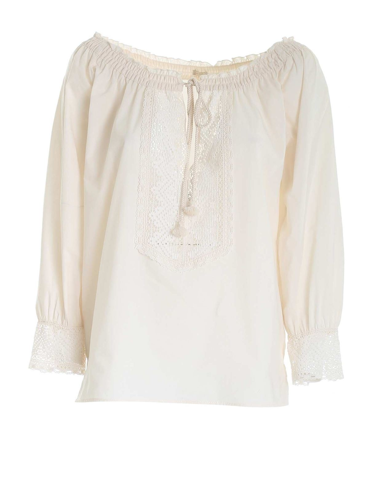 True Royal LACE SHIRT IN CREAM COLOR