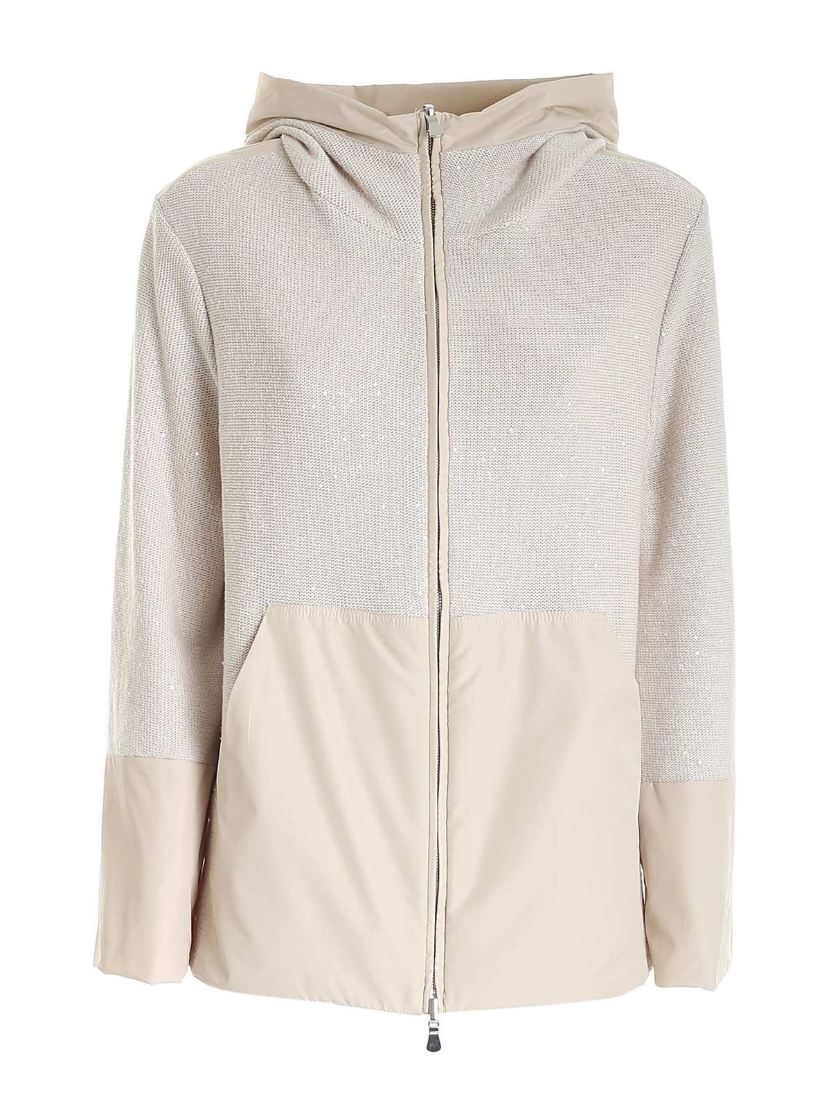 Le Tricot Perugia Cottons REVERSIBLE JACKET IN BEIGE