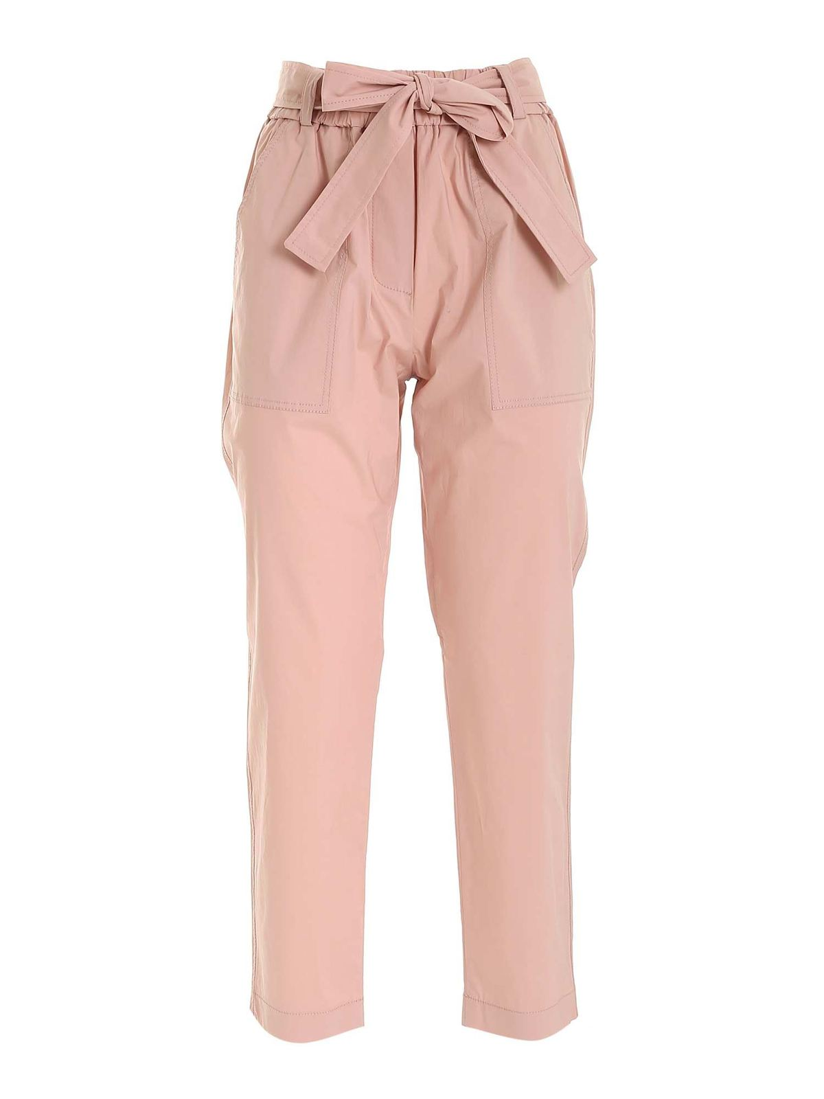 Le Tricot Perugia SASH PANTS IN PINK