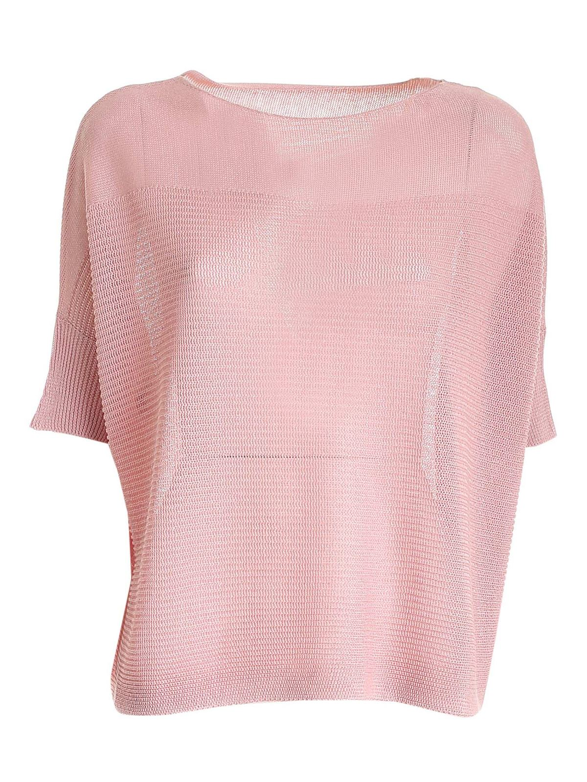 Le Tricot Perugia BOXY SWEATER IN PINK