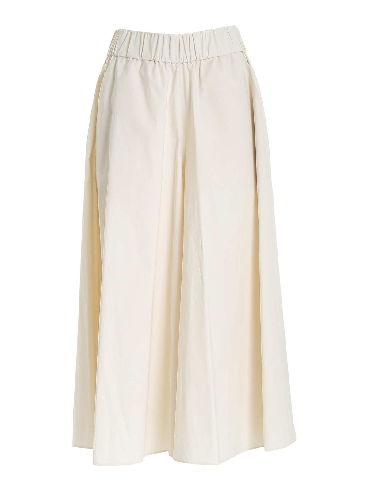 Le Tricot Perugia Cottons OVERSIZED PANTS IN BEIGE