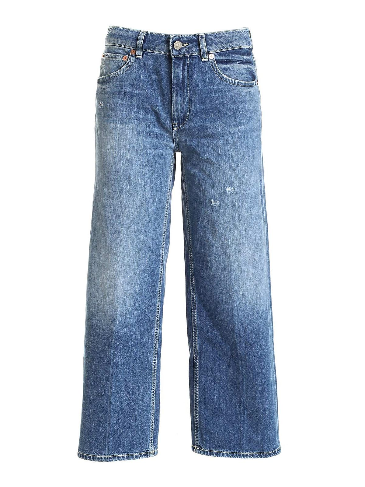 Dondup AVENUE JEANS IN FADED BLUE