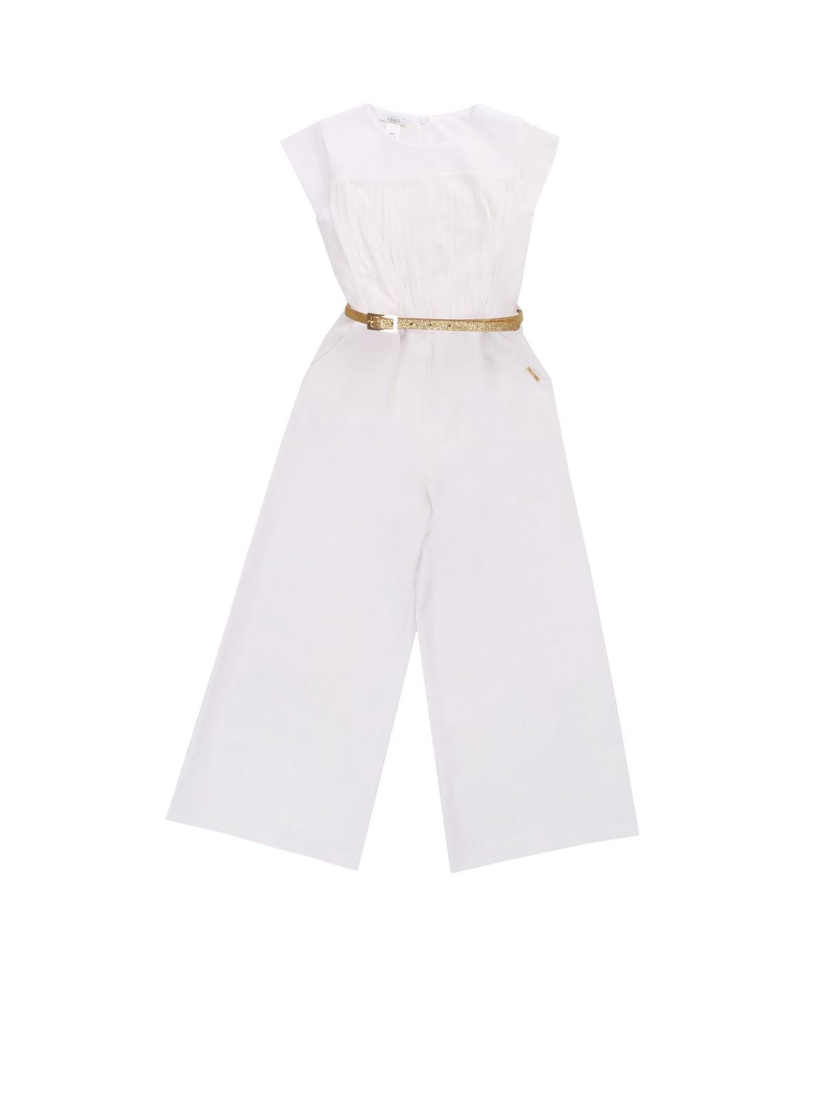 Liu Jo Junior Kids' Belt Jumpsuit In White
