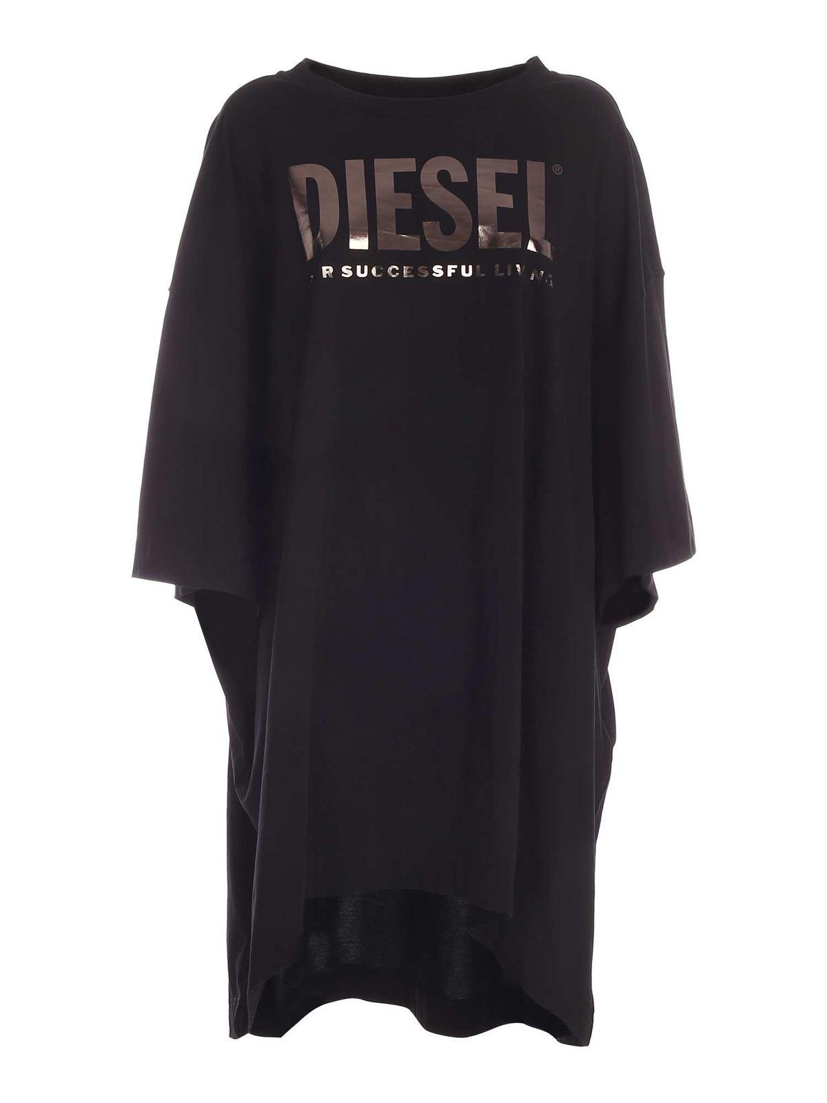 Diesel D-EXTRA DRESS IN BLACK