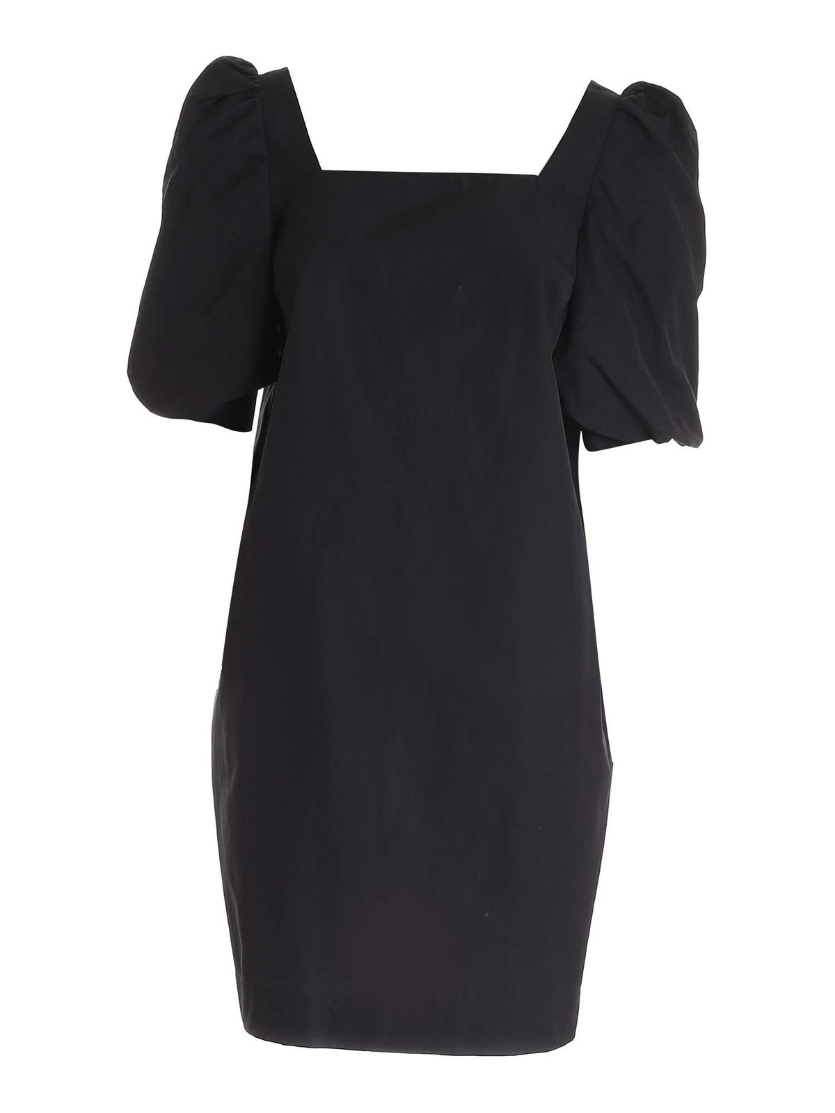 Barba Cottons PUFF SLEEVES DRESS IN BLACK