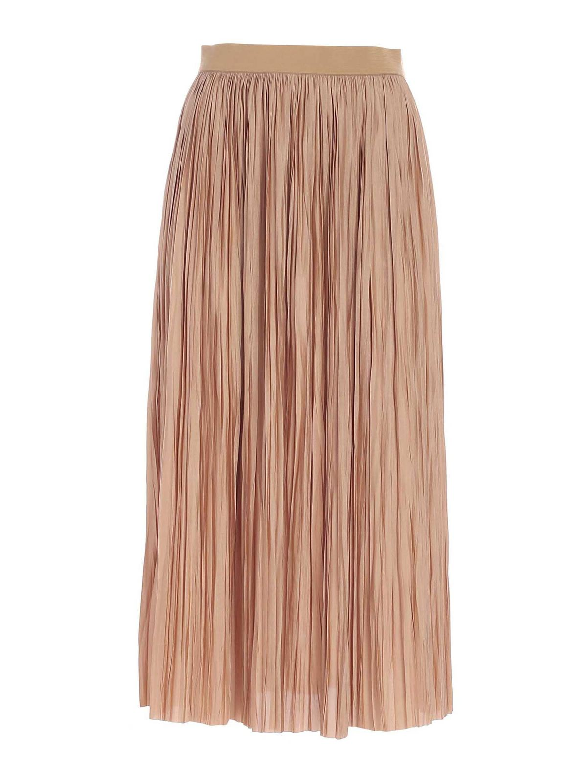Roberto Collina PLEATED SKIRT IN CAMEL COLOR