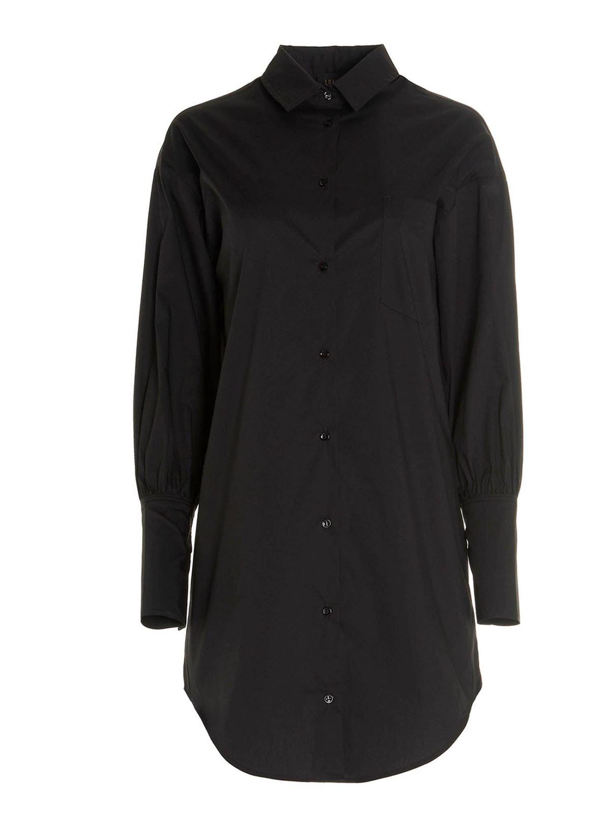Liu •jo Cottons SHIRT DRESS IN BLACK