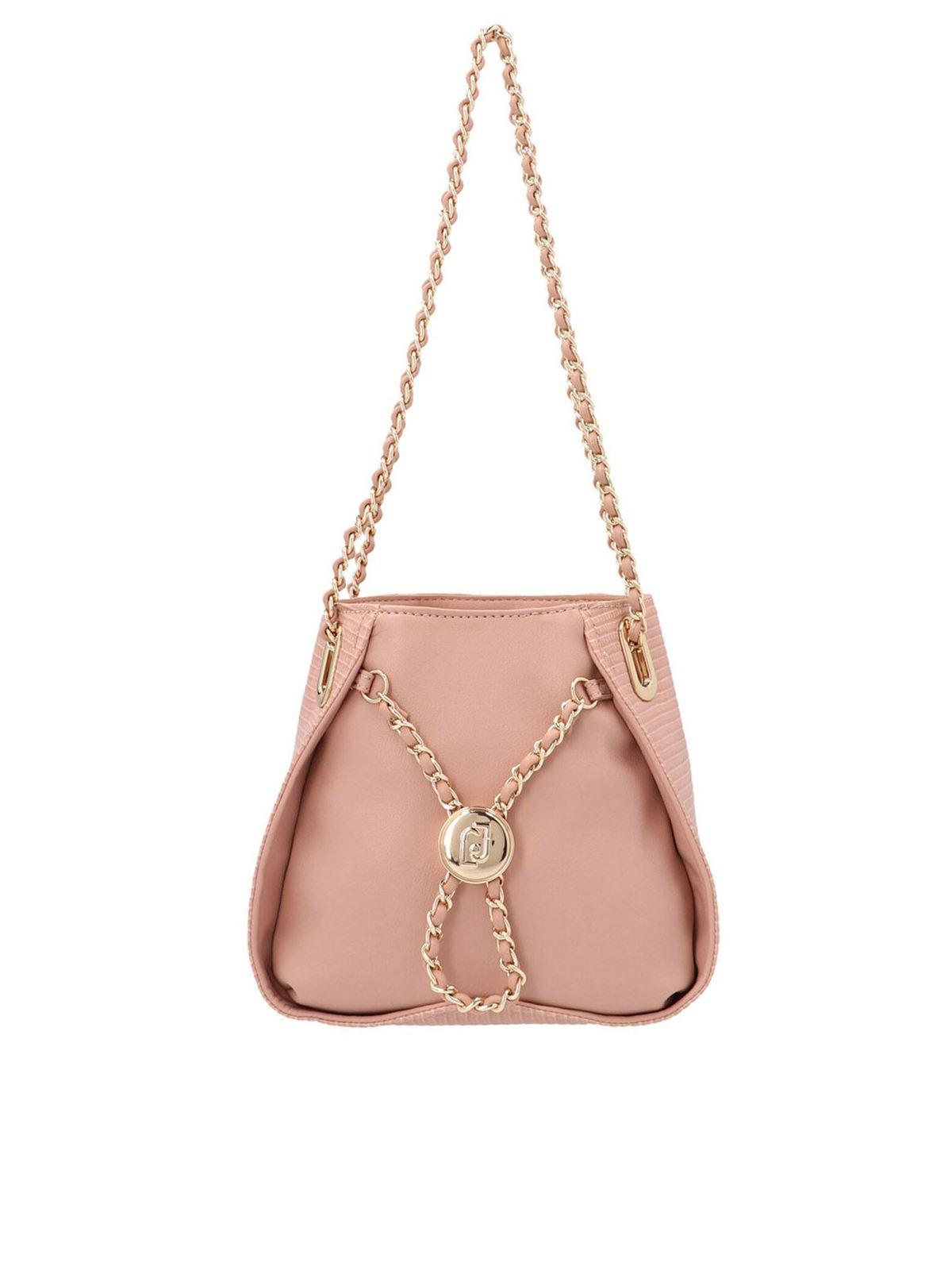 Liu •jo JEWEL CHAIN SHOULDER BAG IN PINK