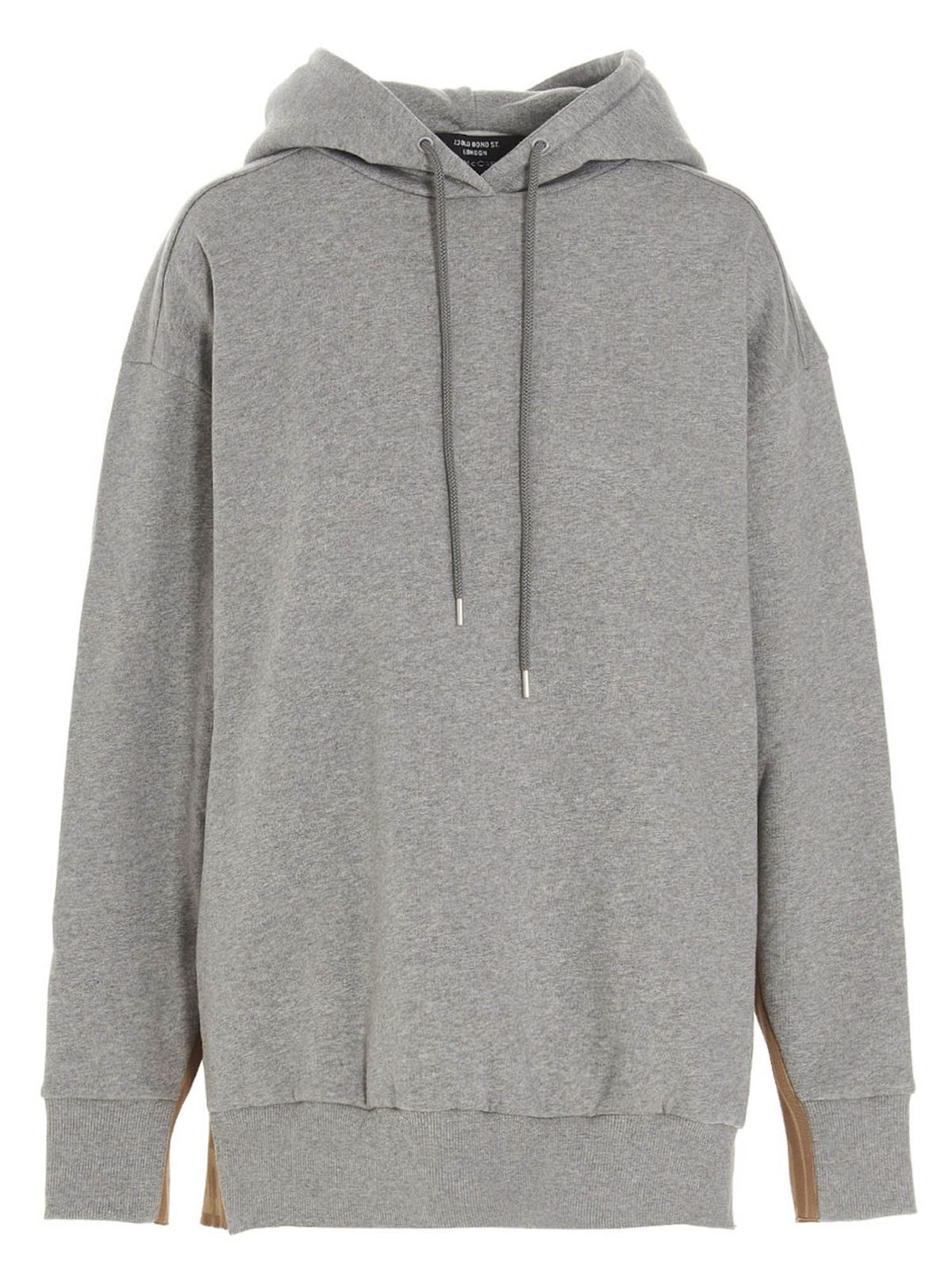 Stella Mccartney LOGO BAND HOODIE IN GREY