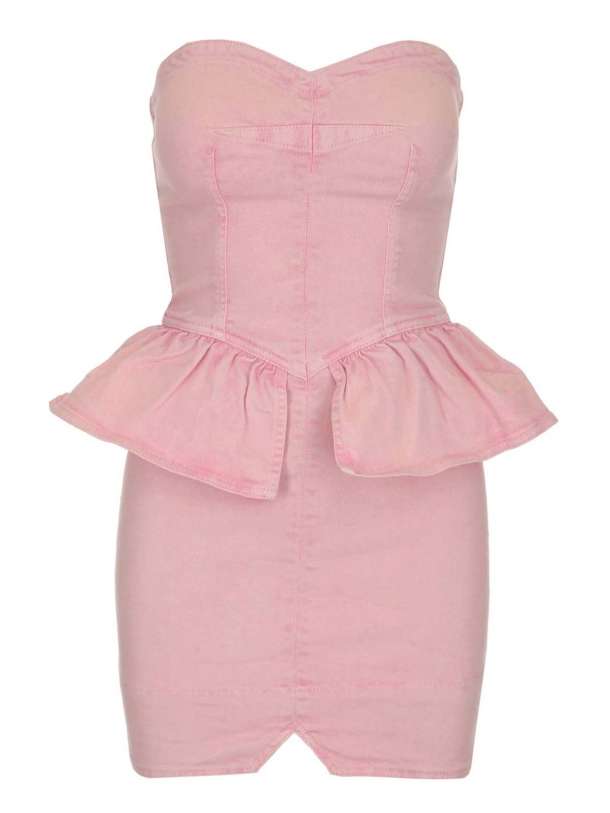 Isabel Marant Cottons DOLZI SHORT DRESS IN LIGHT PINK