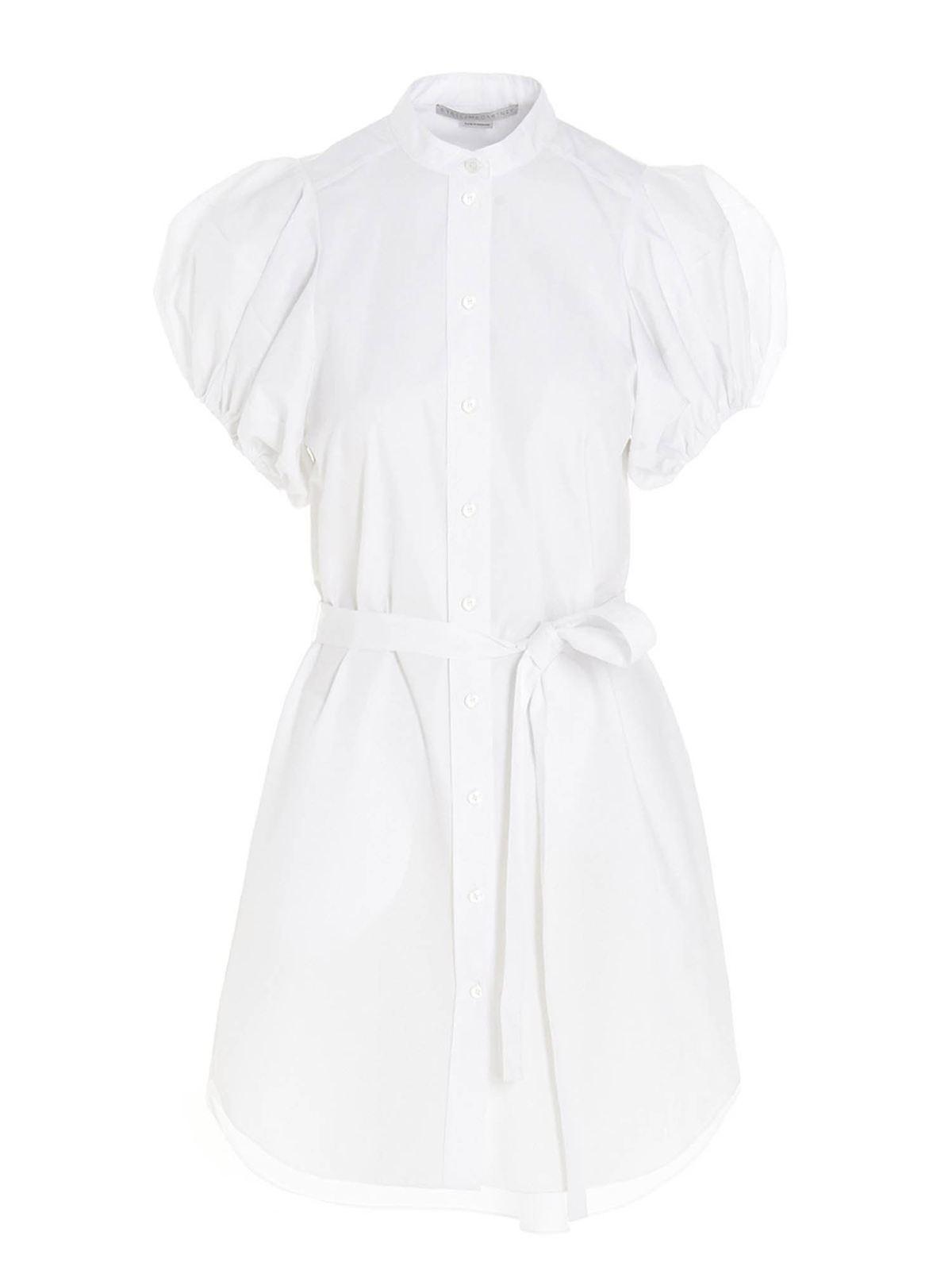 Stella Mccartney Cottons ANASTASIA SHIRT DRESS IN WHITE