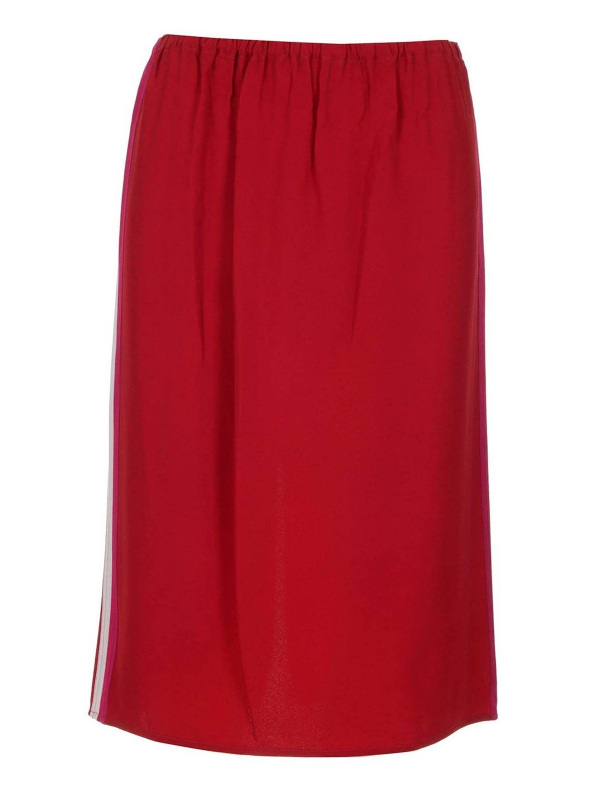 Marni SIDE BANDS SKIRT IN RED