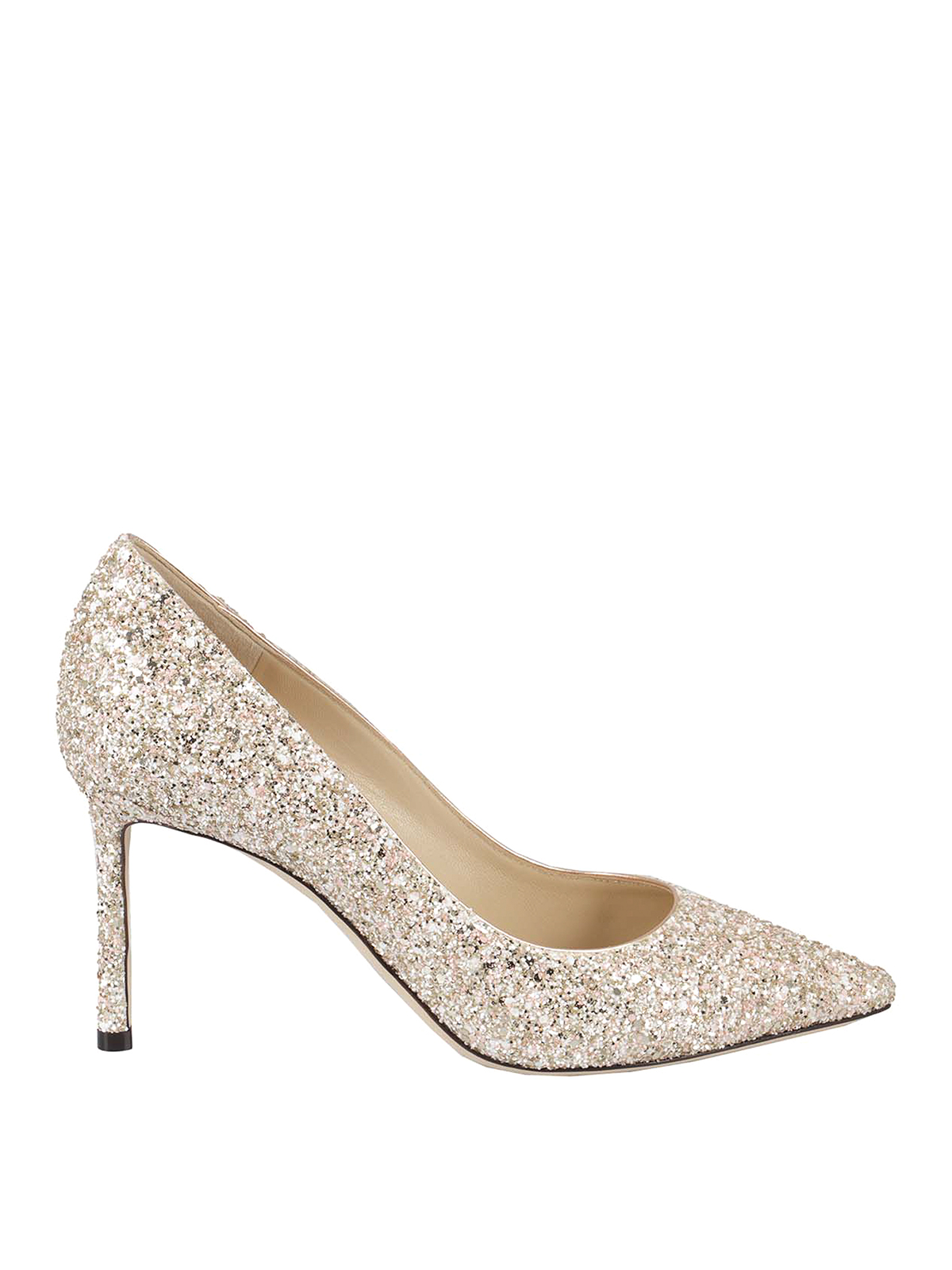 Jimmy Choo Romy 85 Pumps In Gold Color In Rose Gold