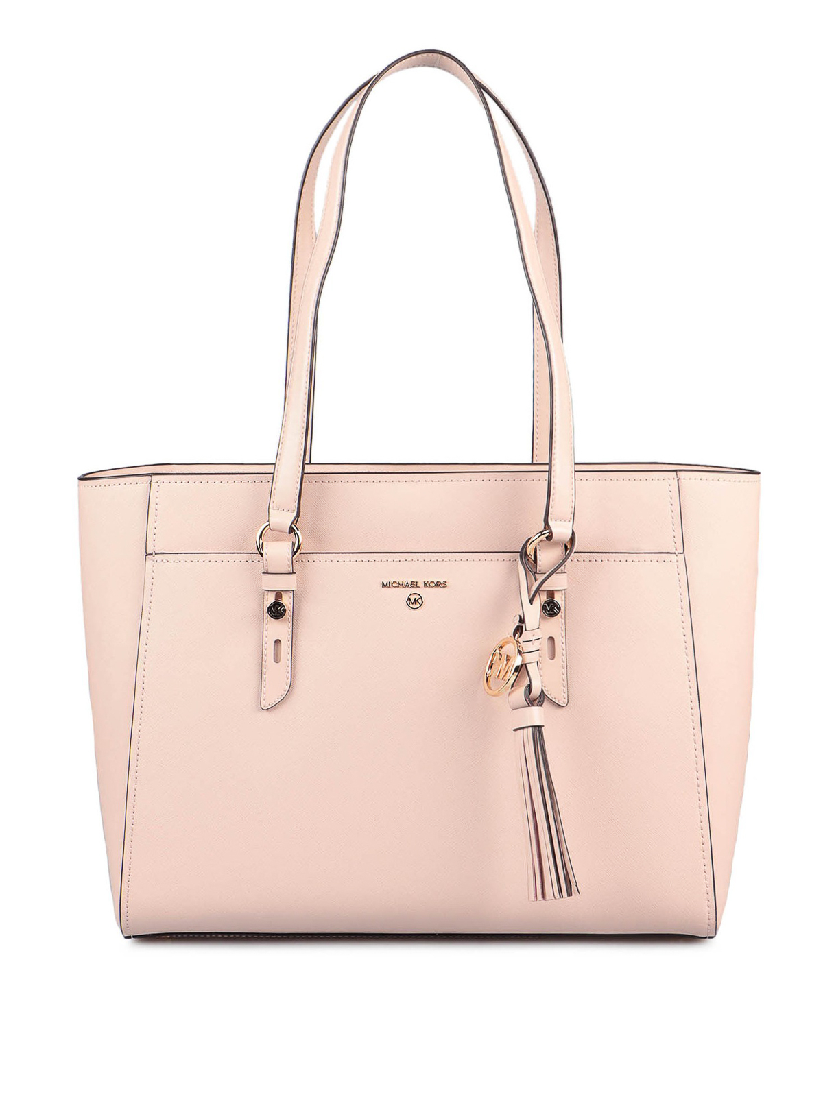 Michael Kors Sullivan Large Saffiano Leather Tote Bag In Pink