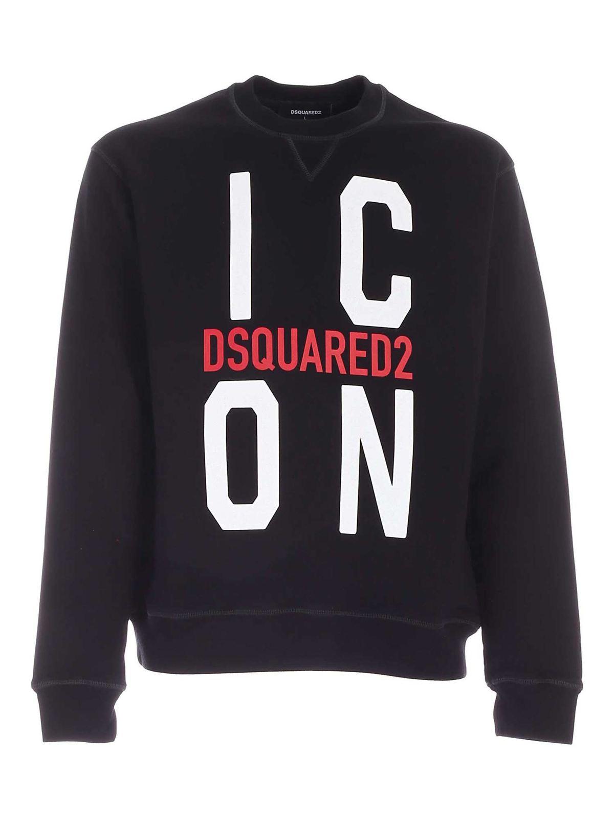 Dsquared2 Logo Printed Sweatshirt In Black