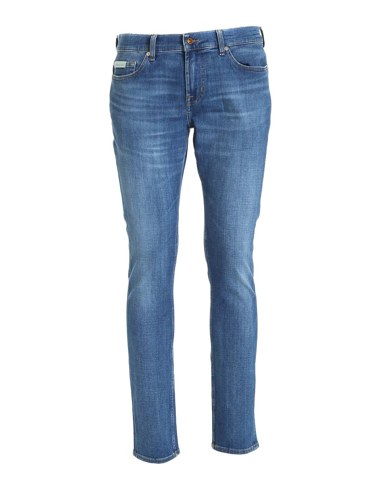7 For All Mankind Ronnie Jeans In Blue