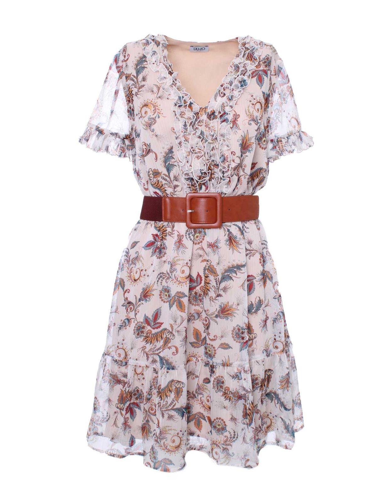 Liu •jo FLORAL PRINT DRESS IN CREAM COLOR