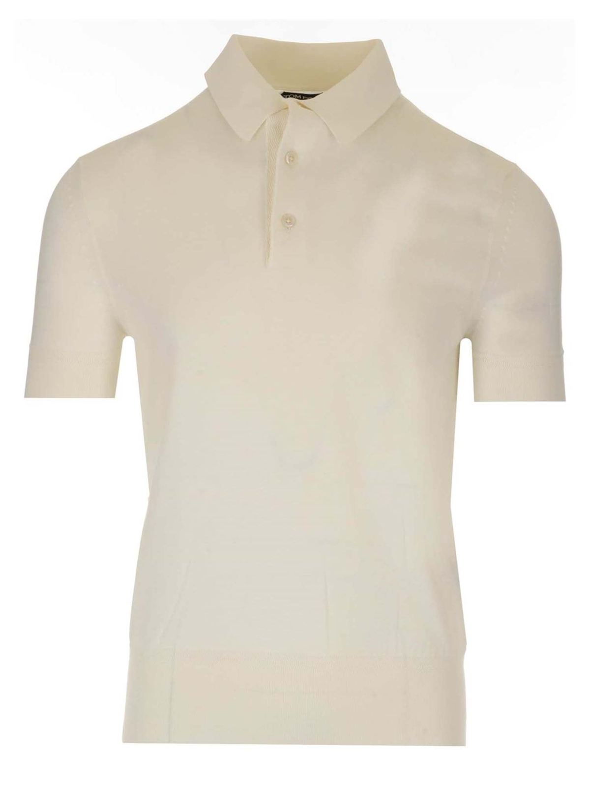 Tom Ford JERSEY POLO SHIRT IN WHITE