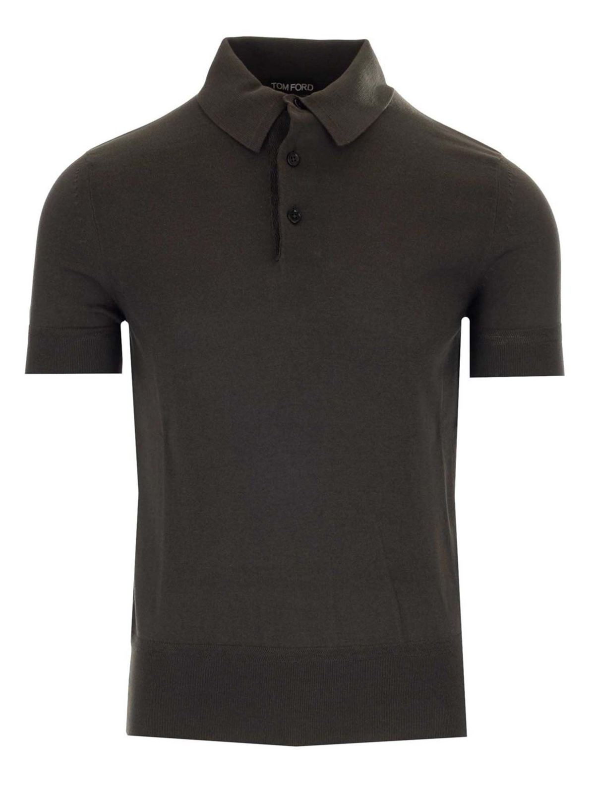 Tom Ford JERSEY POLO SHIRT IN ARMY GREEN