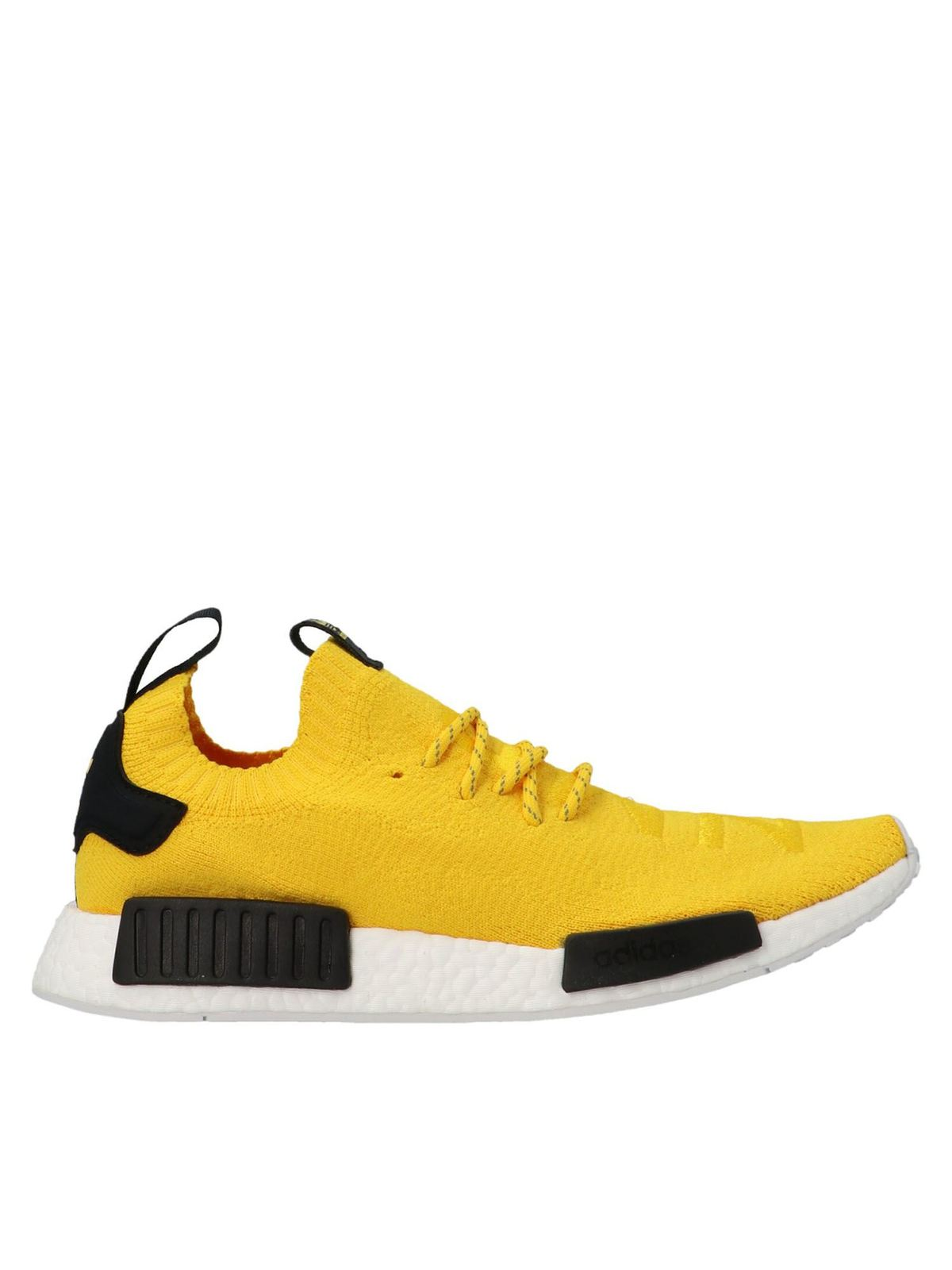 Adidas Originals NMDR1 PRIMEKNIT SNEAKERS IN YELLOW