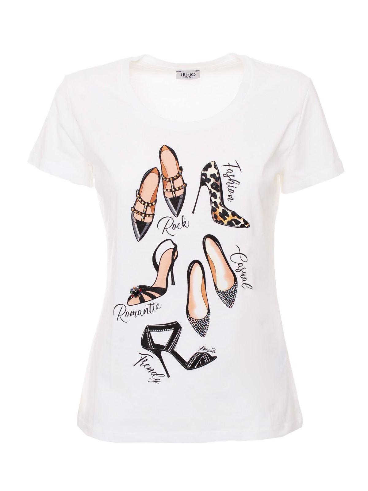 Liu •jo Shoes Print T-shirt In White