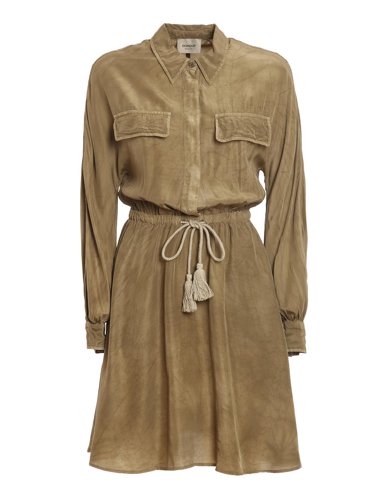 Dondup SILK BLEND SHIRT DRESS