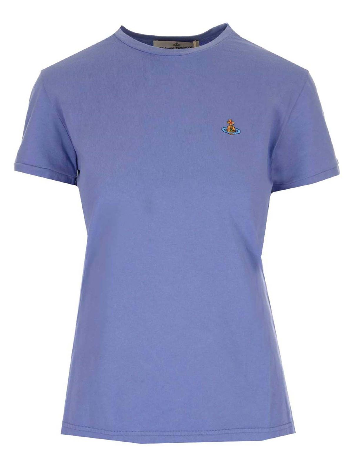 Vivienne Westwood ORB LOGO EMBROIDERY T-SHIRT IN PURPLE