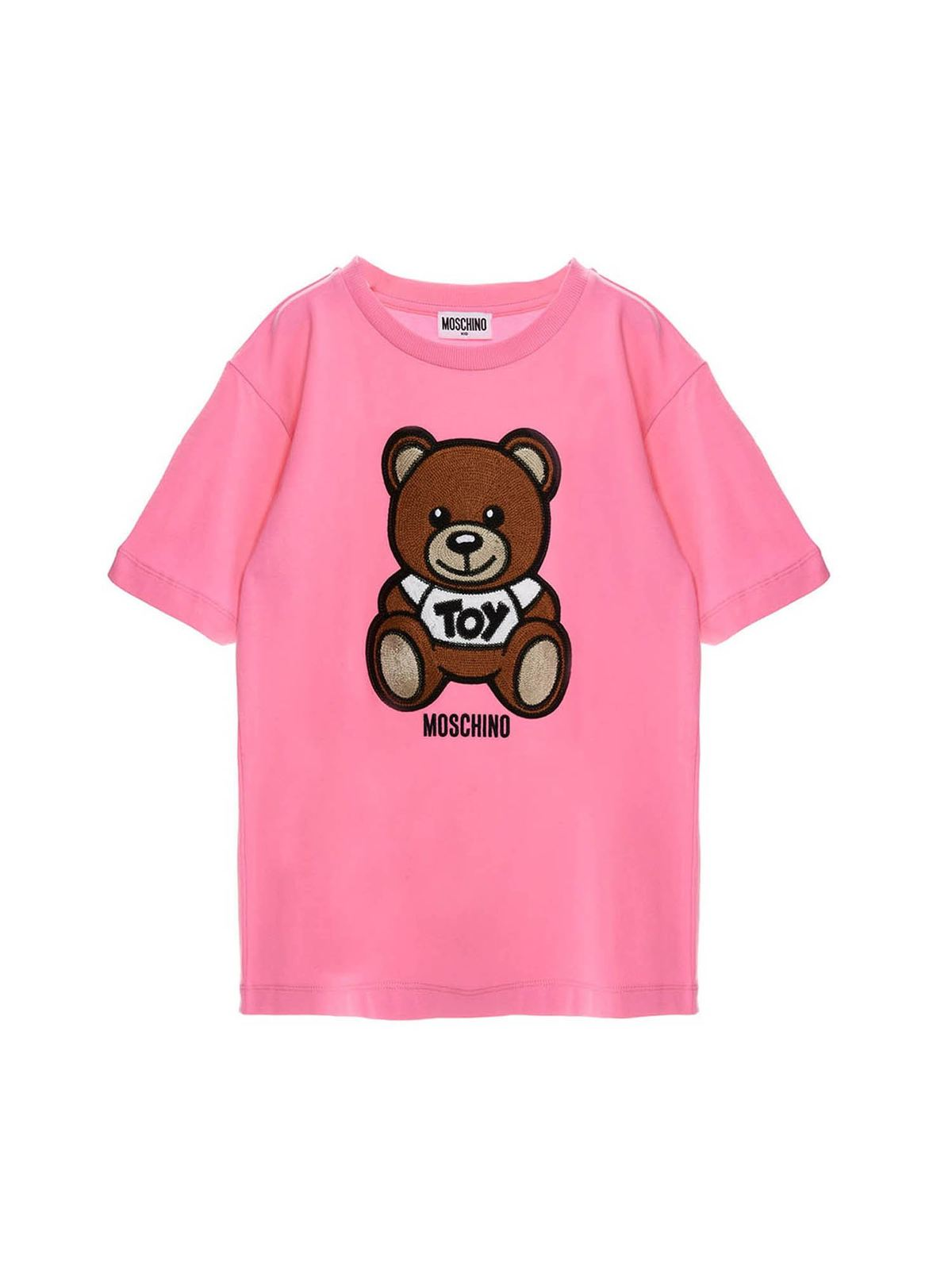 Moschino TEDDY BEAR PATCH T-SHIRT IN FUCHSIA