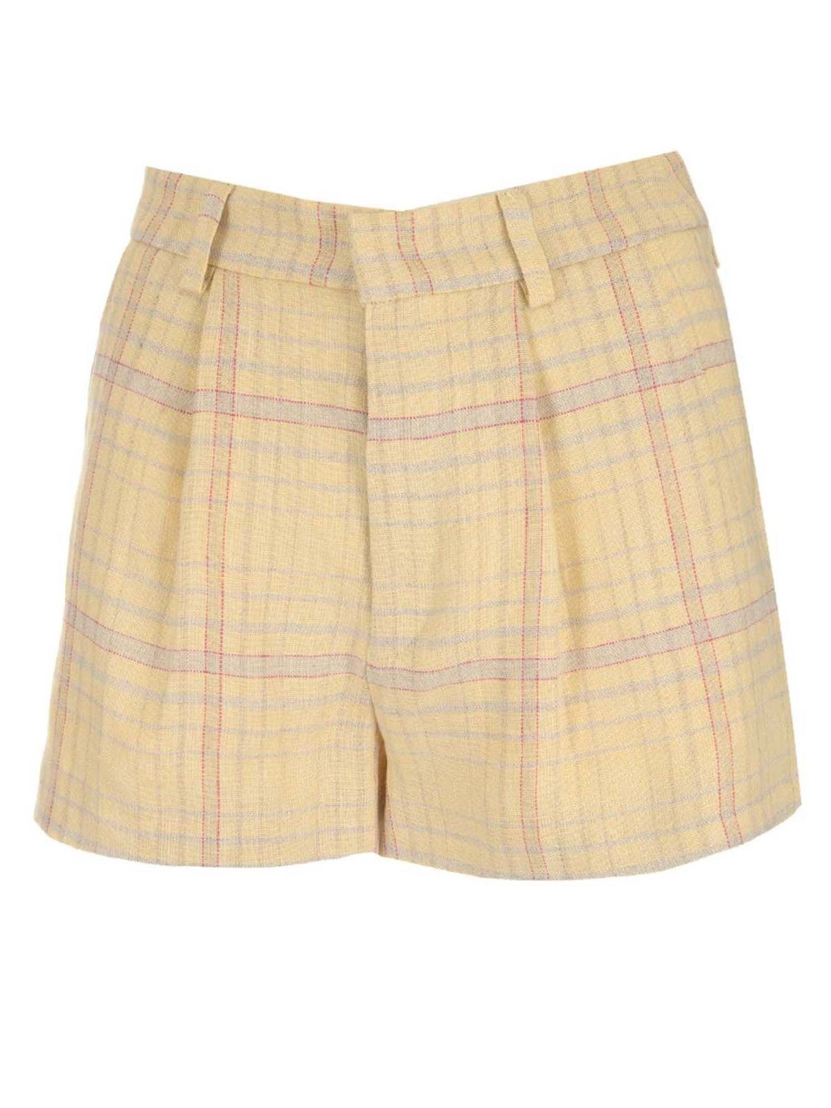 Isabel Marant Étoile ILABOT SHORTS IN YELLOW