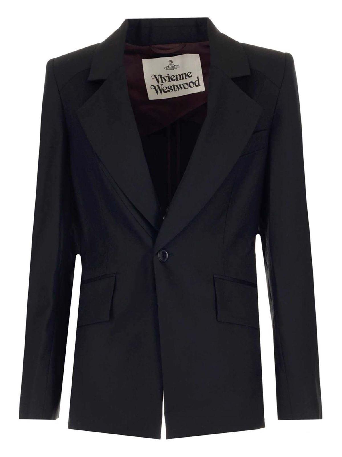 Vivienne Westwood LOU LOU BLAZER IN BLACK