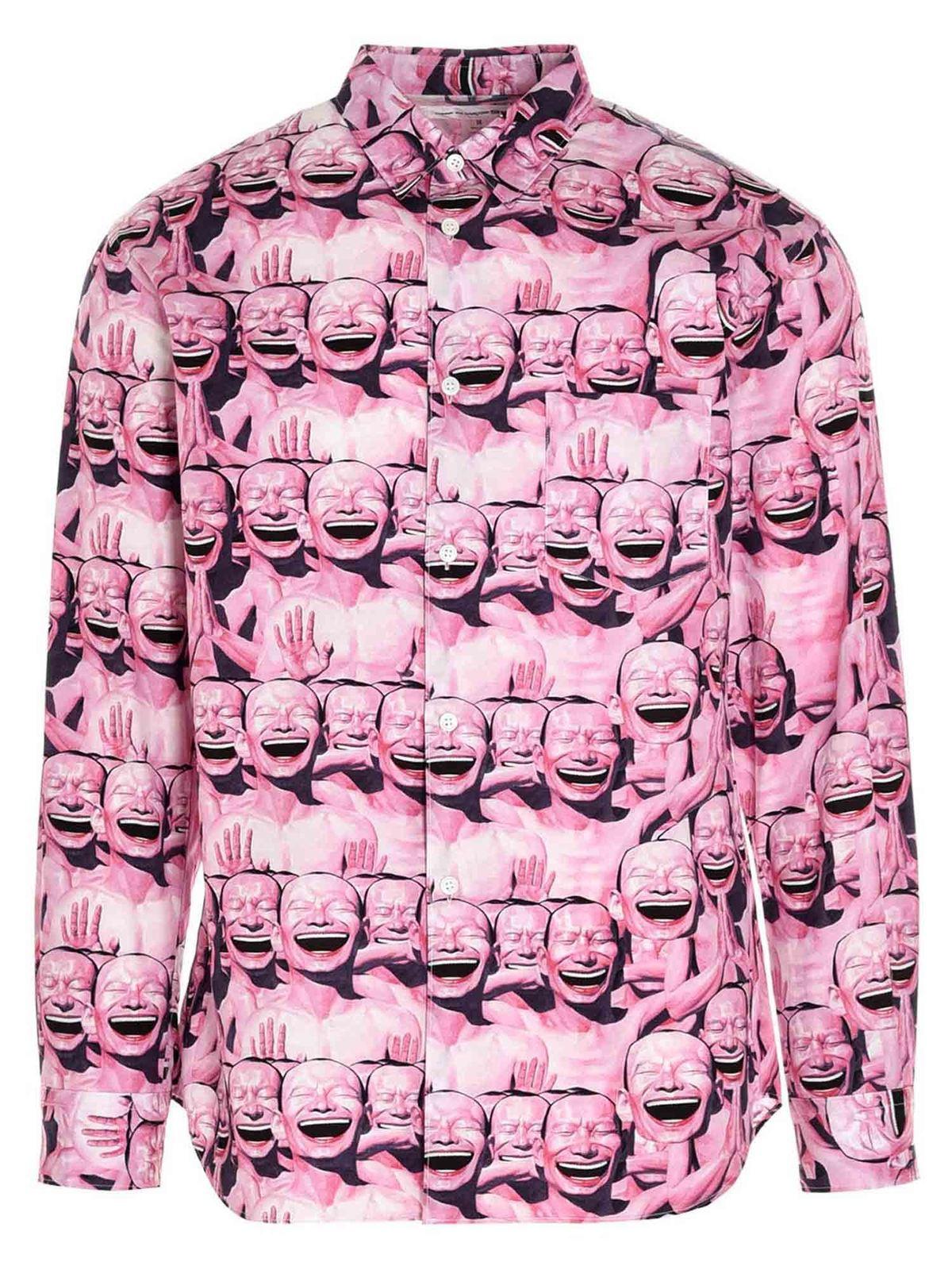 Comme Des Garçons Shirt Clothing YUE MINJUN PRINTED SHIRT IN PINK