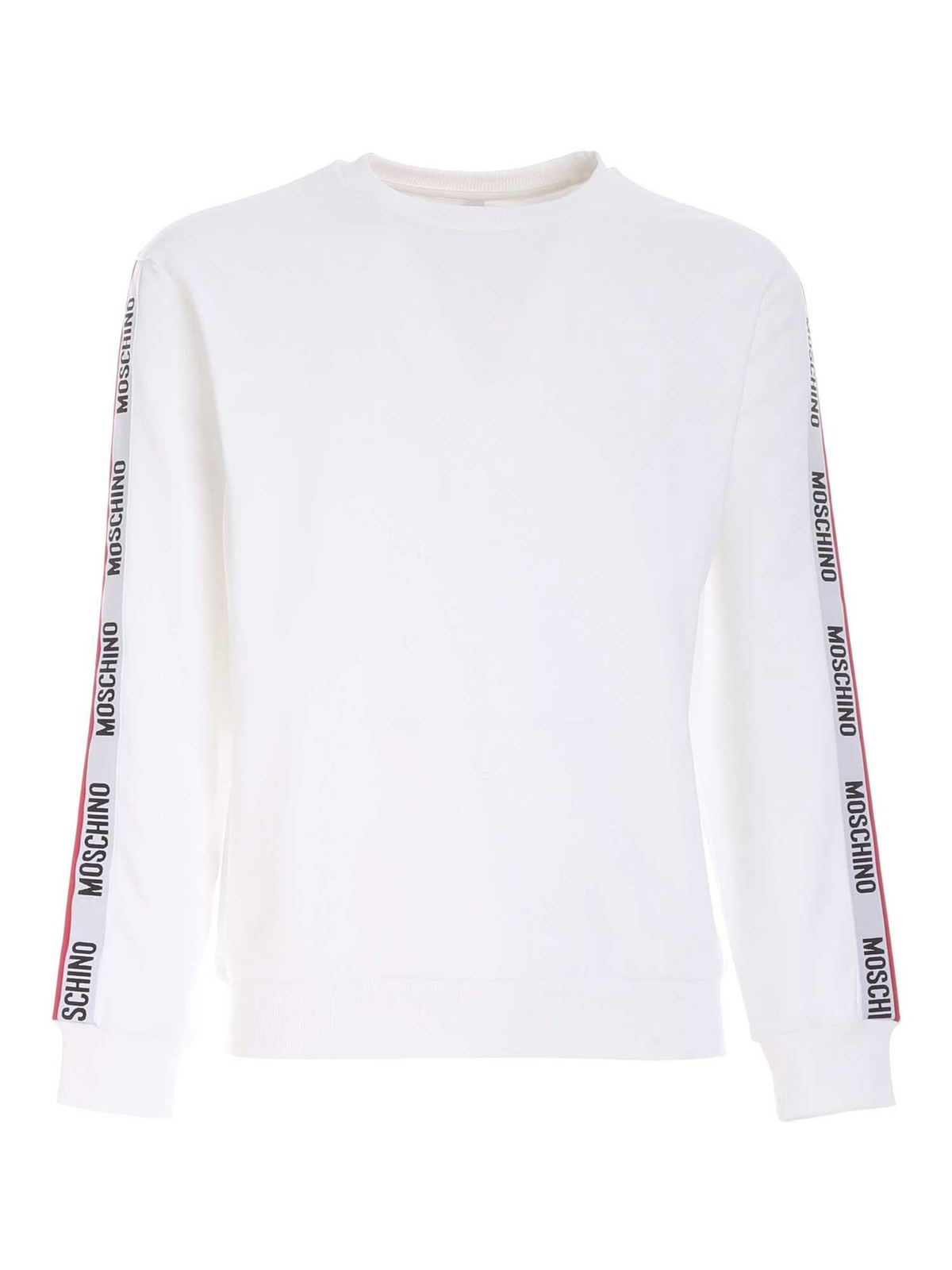 Moschino LOGO BAND SWEATSHIRT IN WHITE