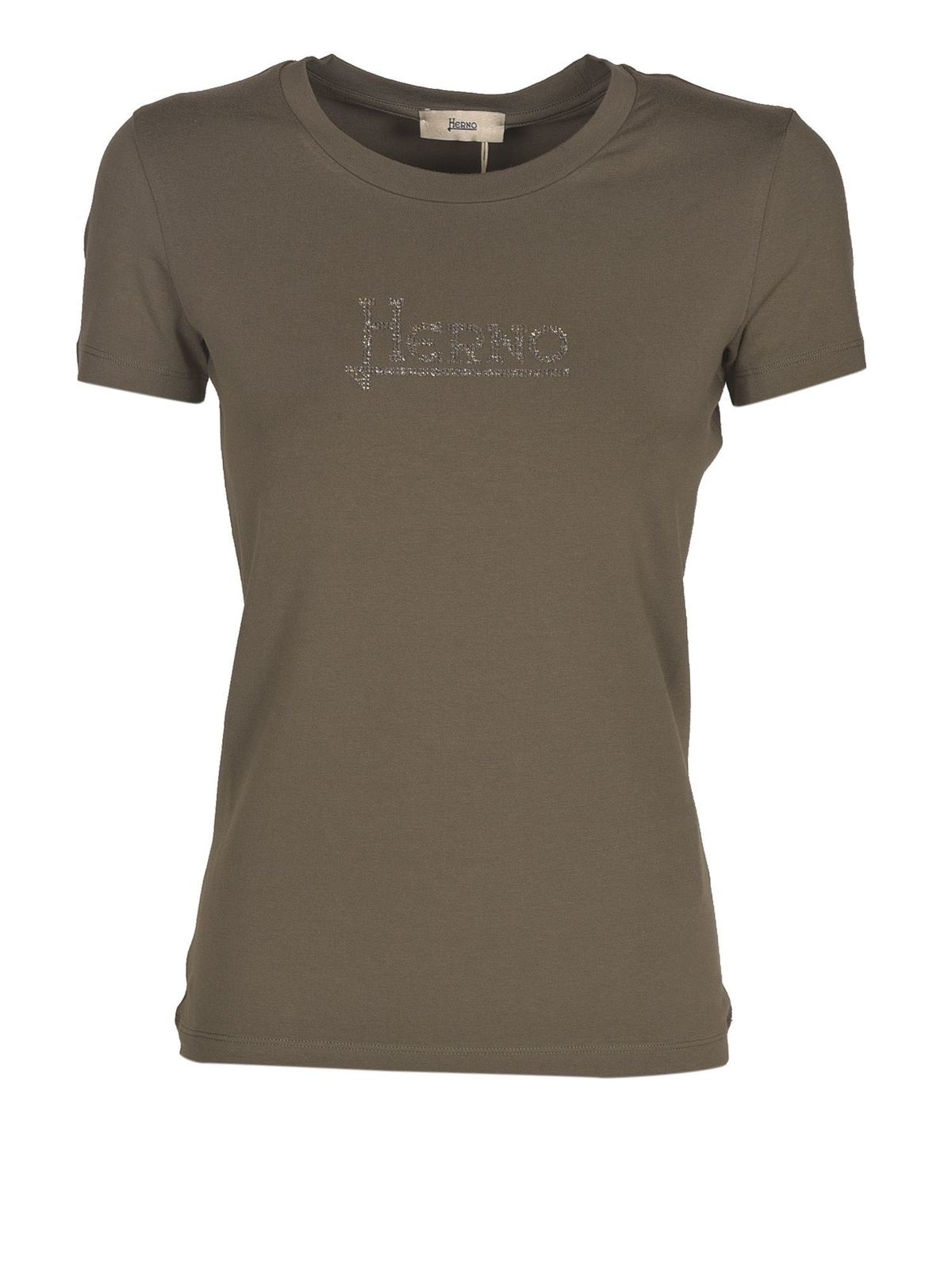 Herno Cotton T-shirt In Green