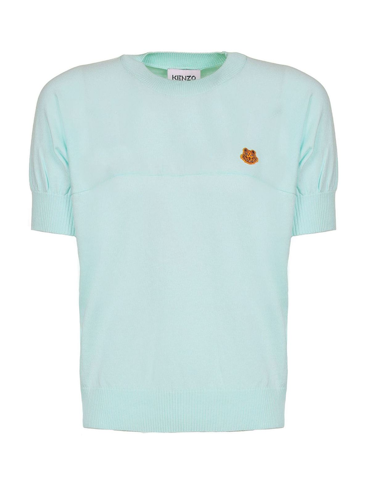 Kenzo TIGER CREST SWEATER IN MINT COLOR