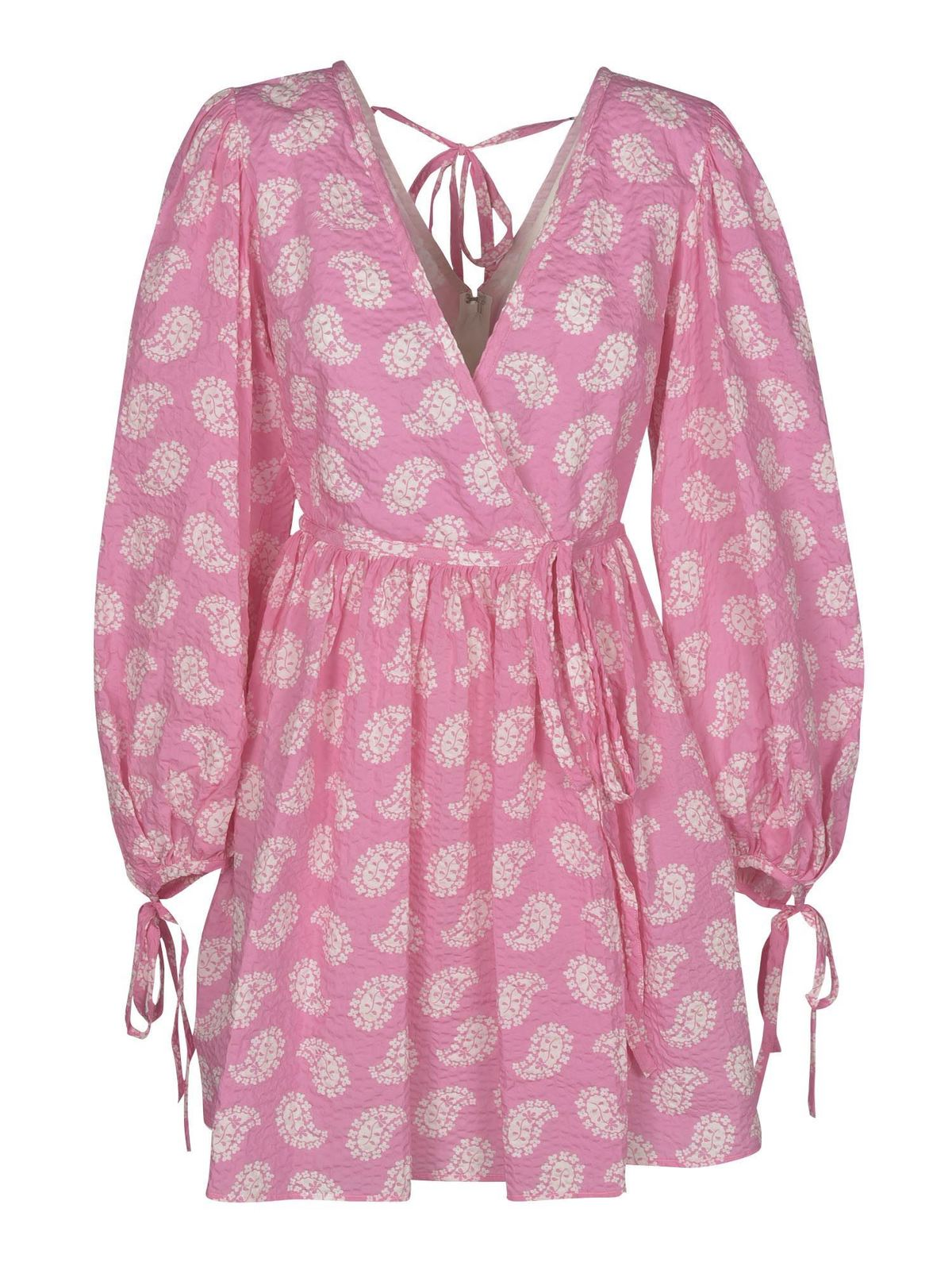 Msgm Paisley Print Dress In Pink