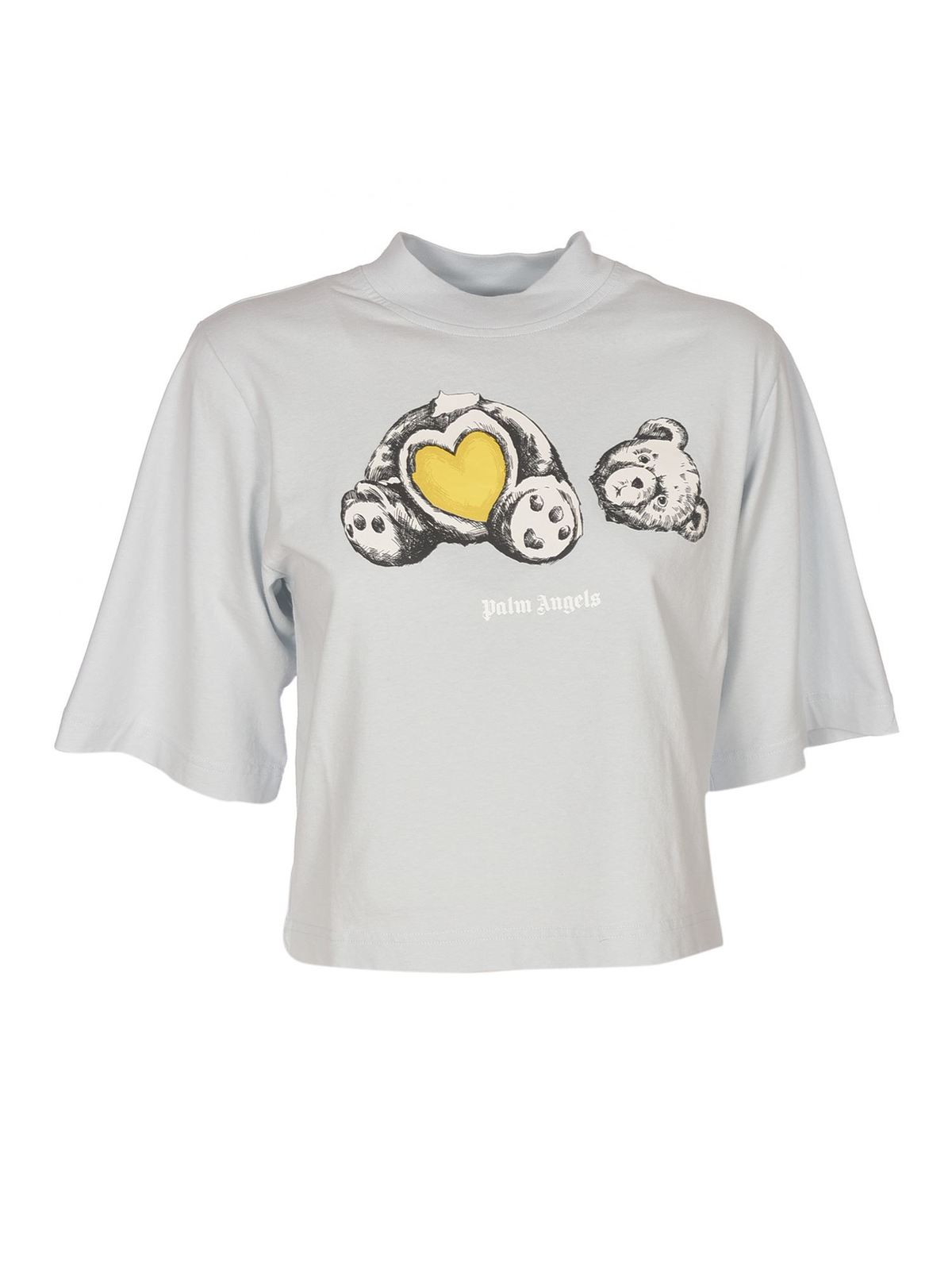 Palm Angels Bear In Love T-shirt In Light Blue