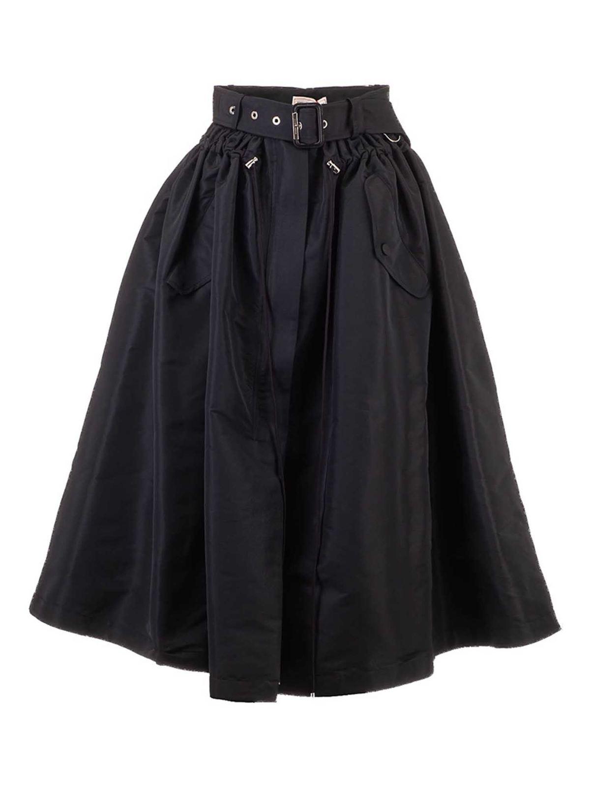 Alexander Mcqueen Skirts PARKA SKIRT IN BLACK