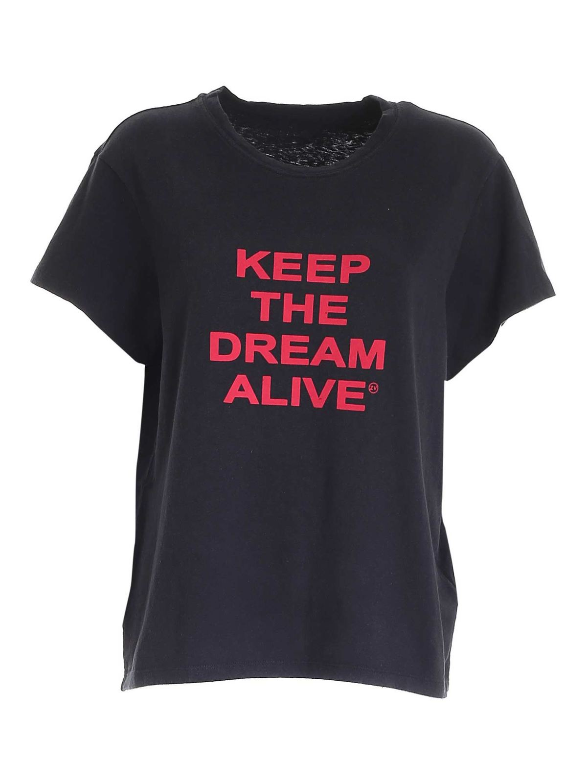 Zadig & Voltaire RED LOGO T-SHIRT IN BLACK