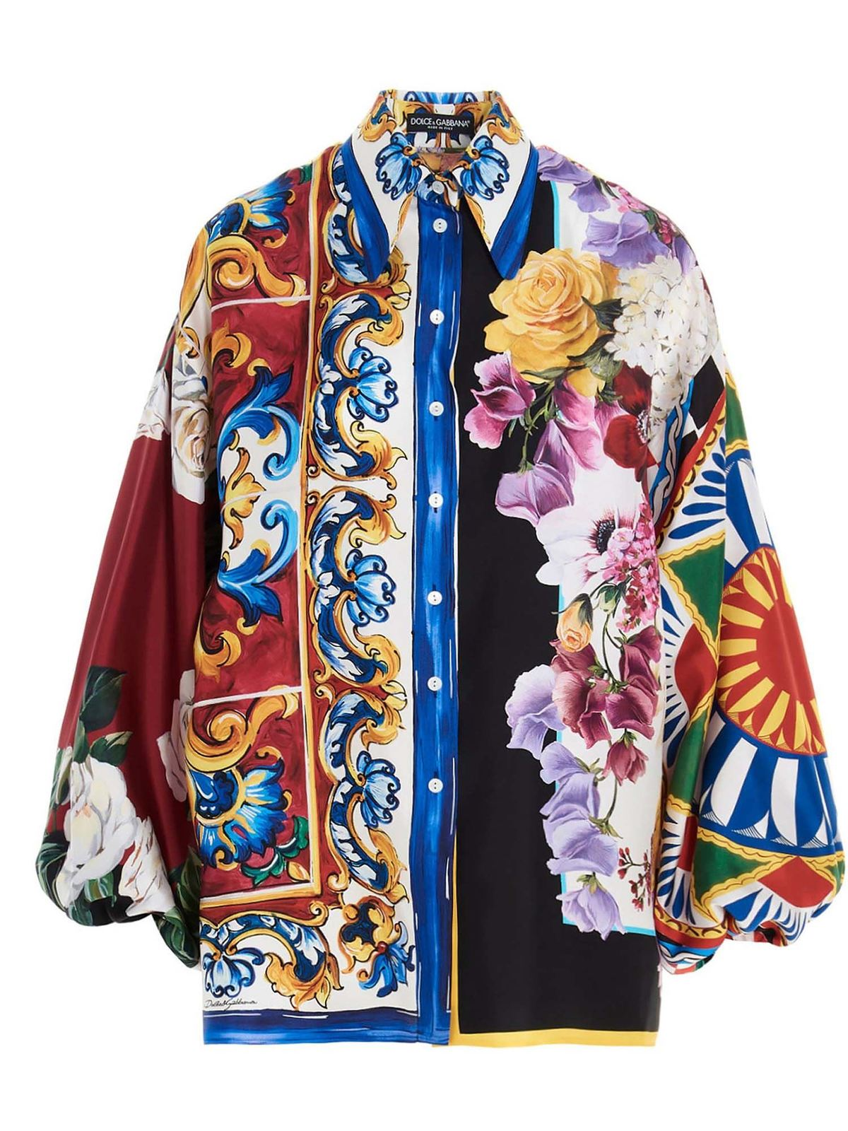 Dolce & Gabbana PATCHWORK SHIRT IN MULTICOLOR