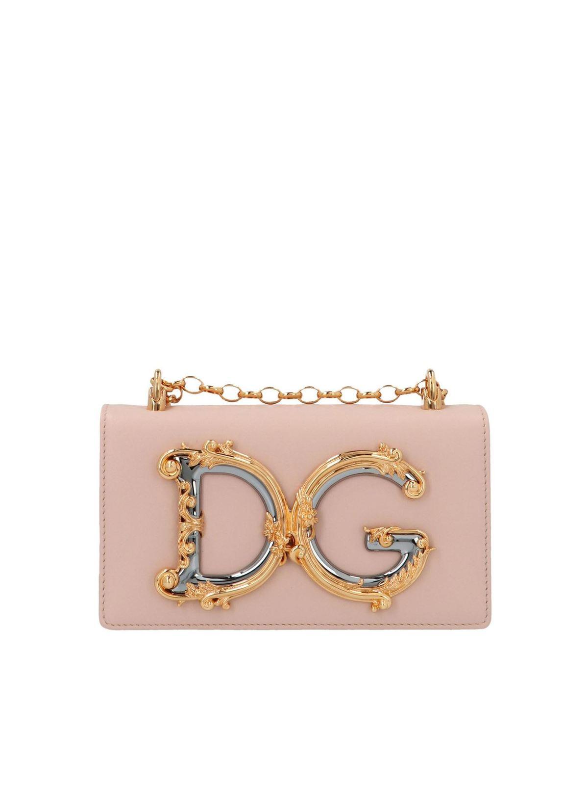 Dolce & Gabbana Bags DG MINI CROSSBODY BAG IN PINK