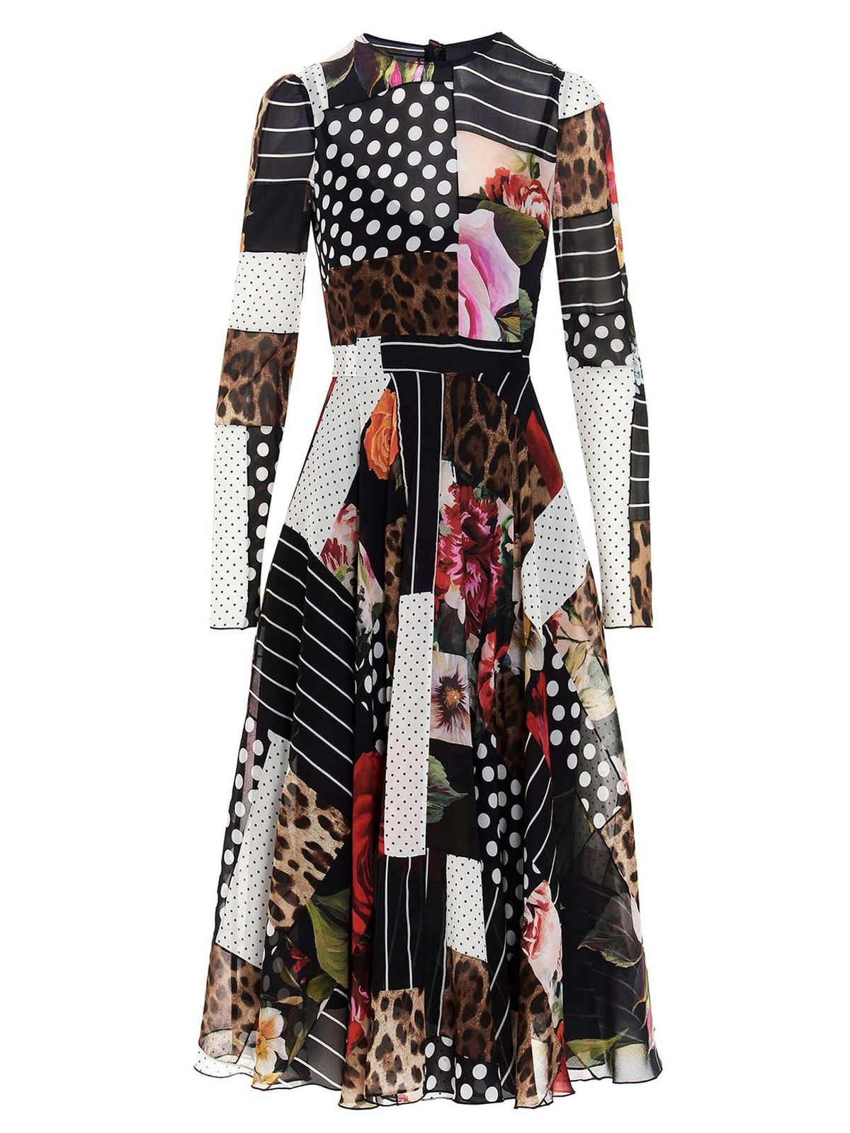 Dolce & Gabbana Downs PATCHWORK DRESS IN MULTICOLOR